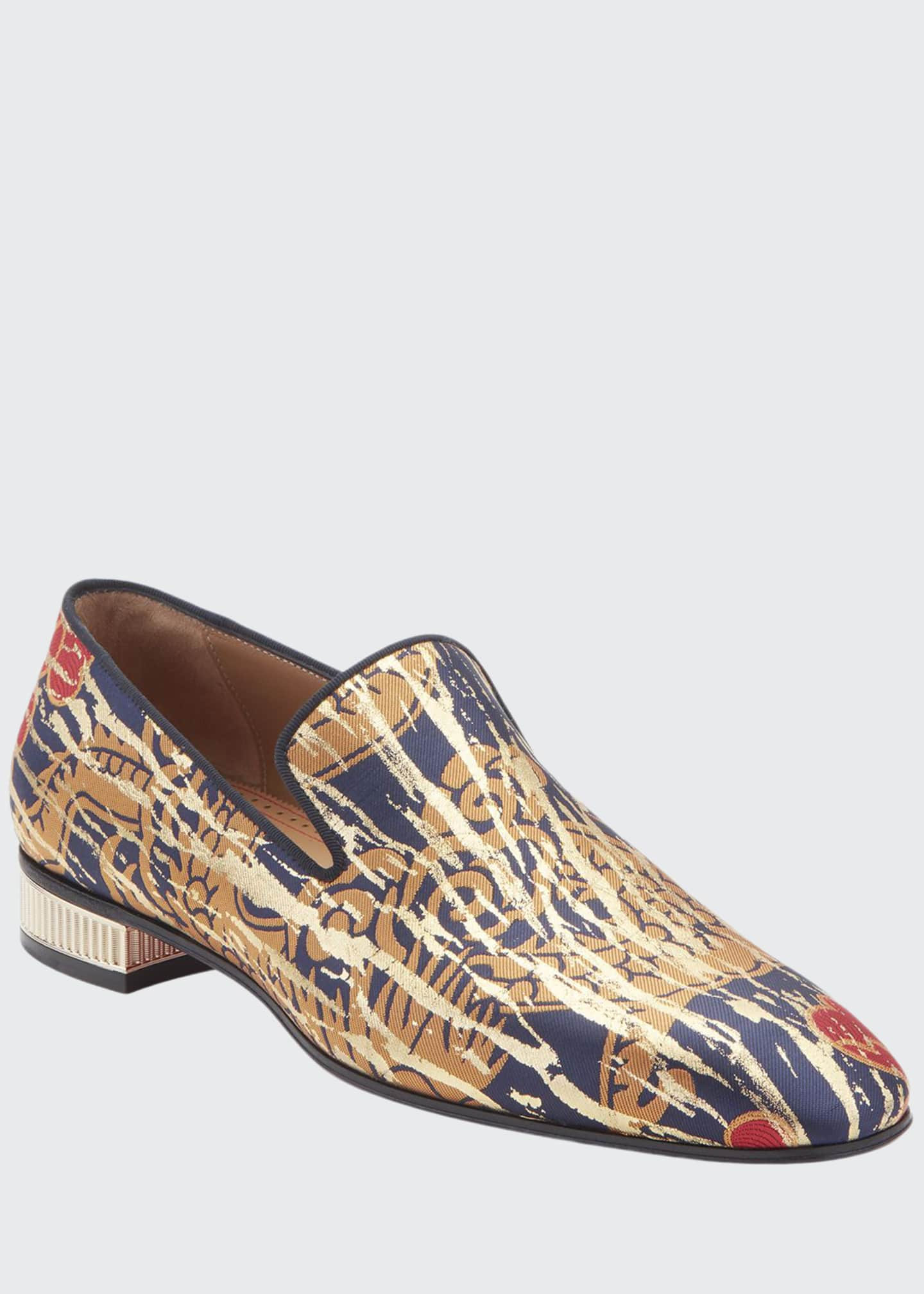 Image 1 of 2: Men's Colonnaki Jacquard Loafers