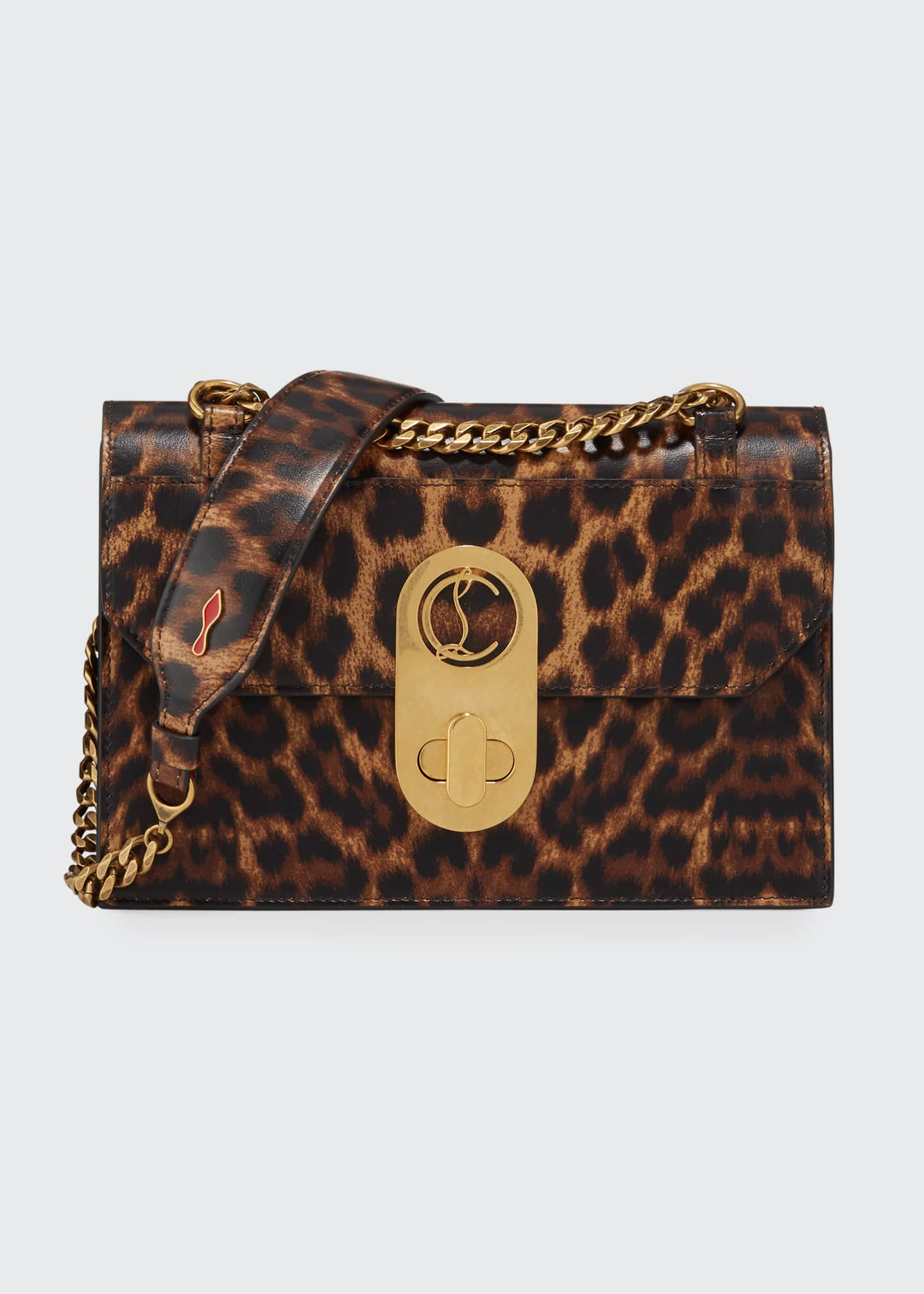 Christian Louboutin Elisa Small Leopard Shoulder Bag
