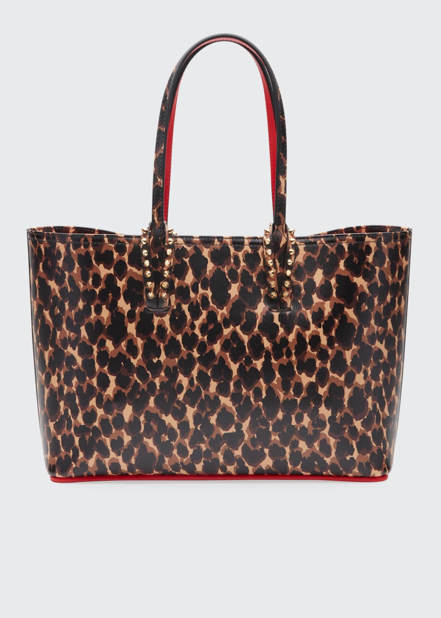 Christian Louboutin Cabata Small Calf Paris Leopard Red