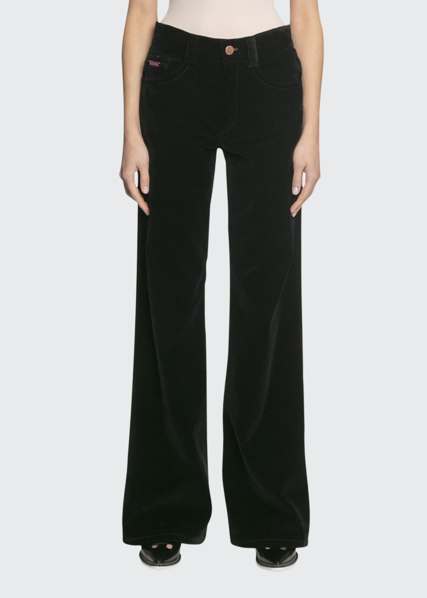 Image 1 of 2: The Velveteen Flared Jeans