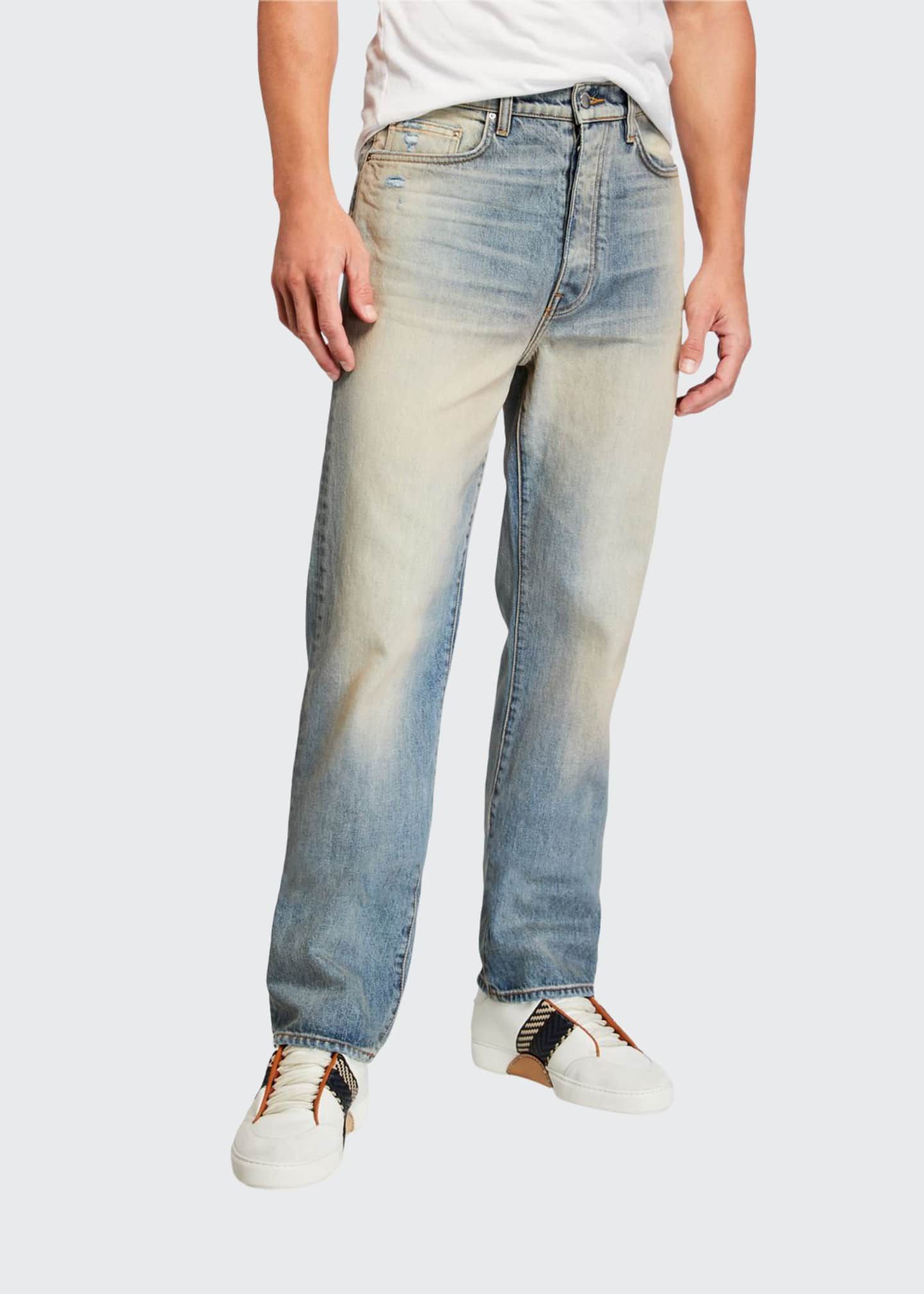 Amiri Men's Relaxed Vintage Light-Wash Jeans