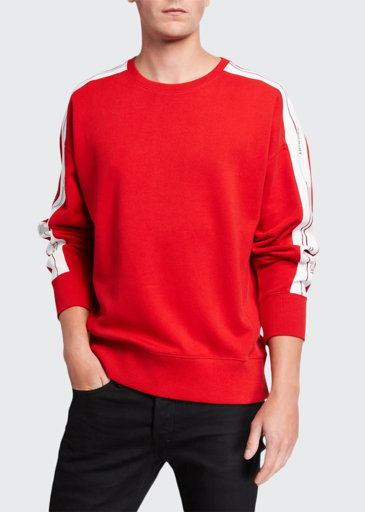 Givenchy Men's Crewneck Sweatshirt with Logo Taping