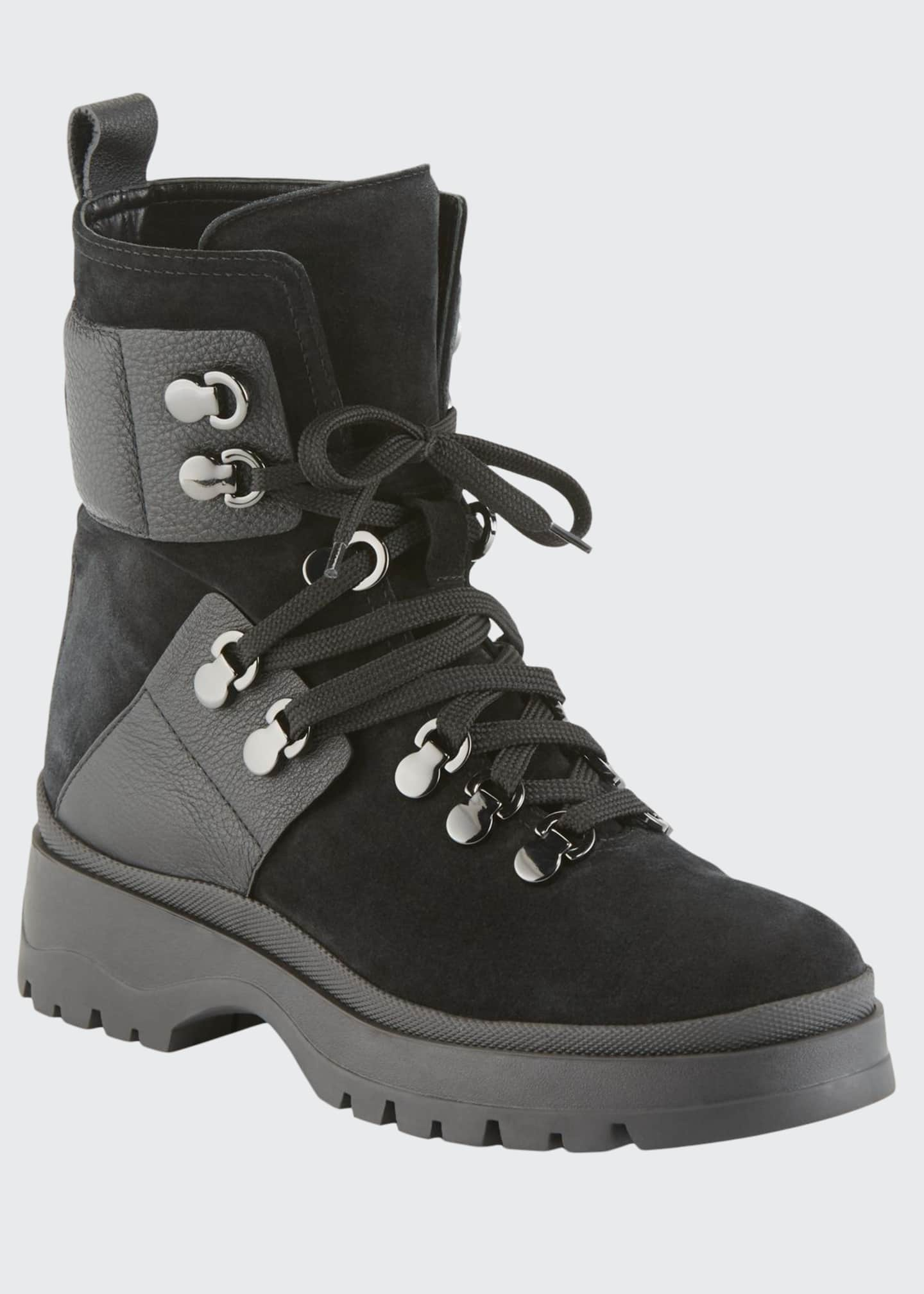 Aquatalia Starla Lace-Up Lug Booties
