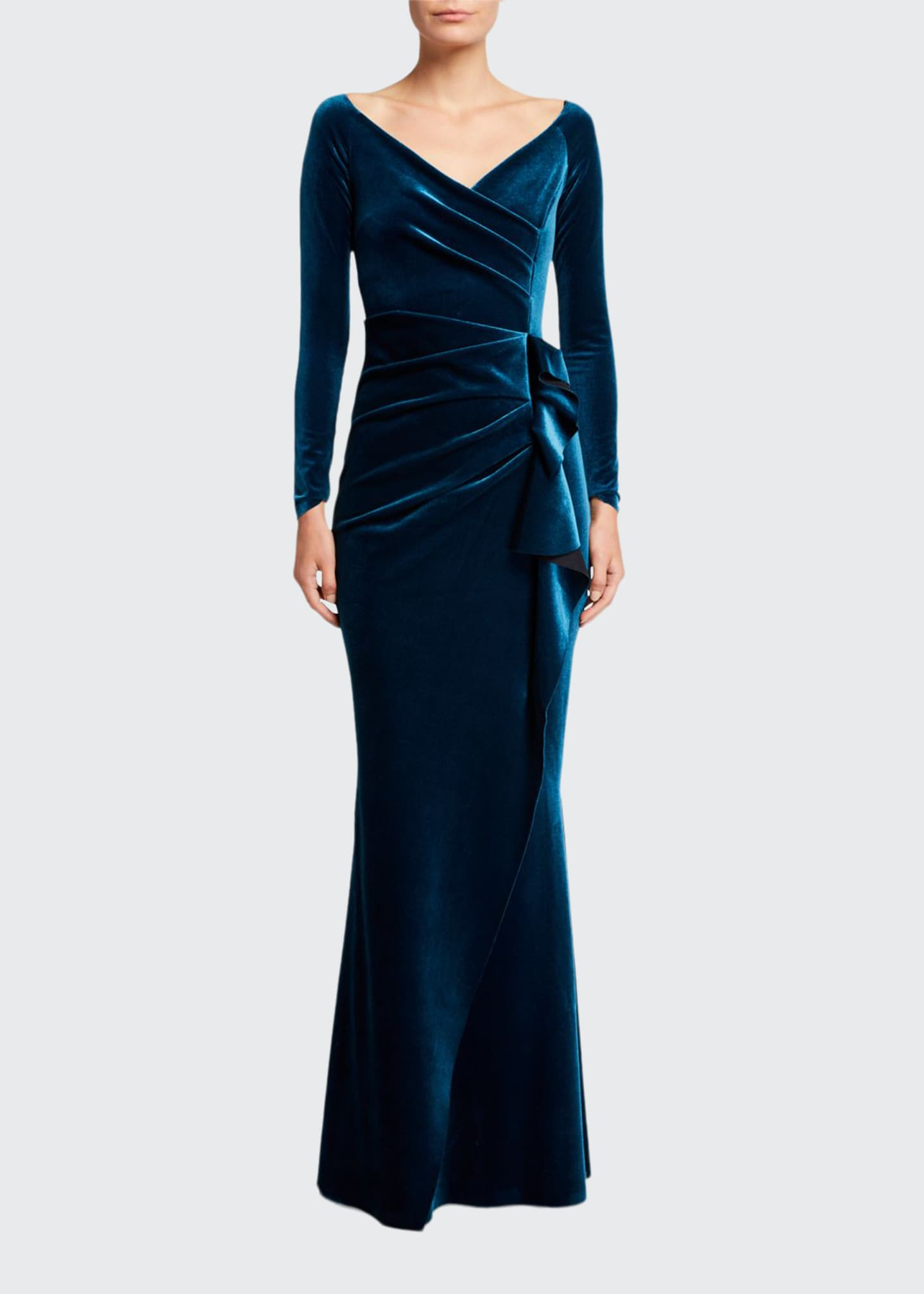 Chiara Boni La Petite Robe V-Neck Long-Sleeve Side