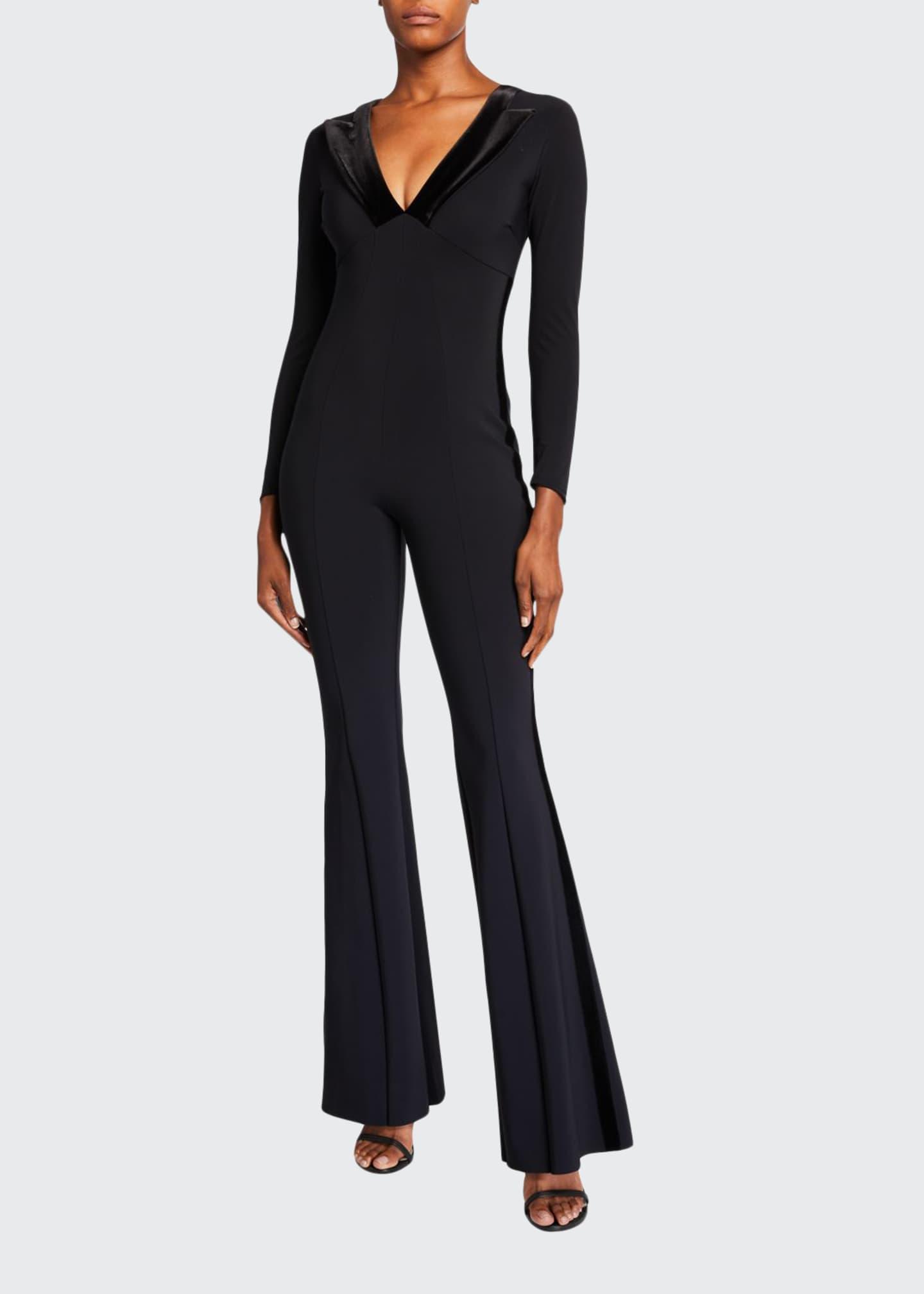 Chiara Boni La Petite Robe Velvet Collar Long-Sleeve