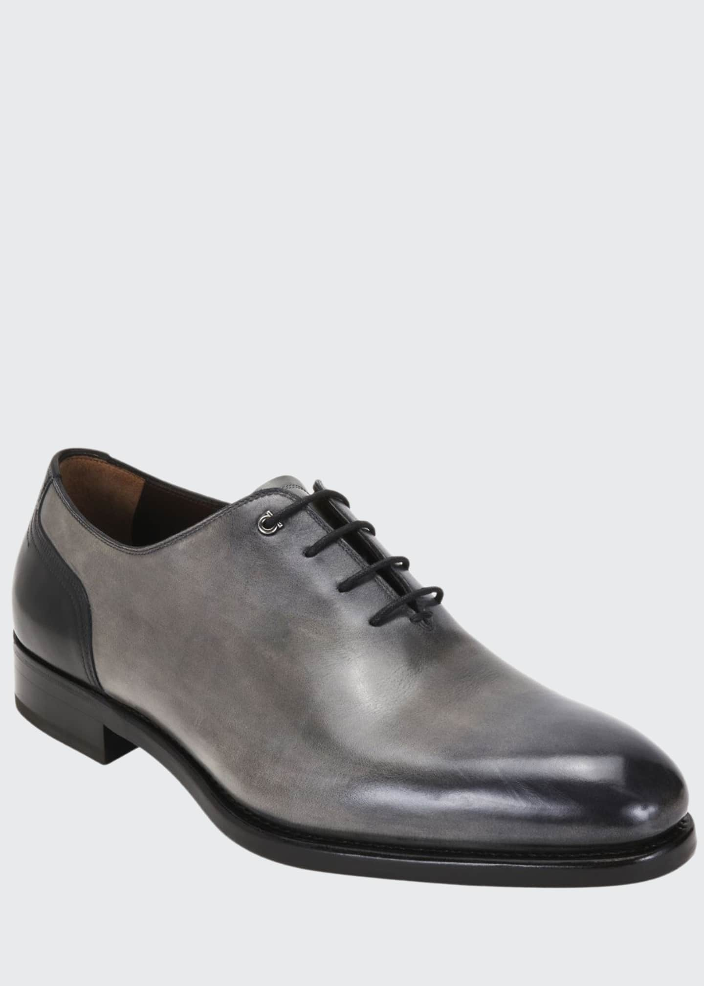 Image 1 of 4: Men's Barclay Burnished Leather Oxford Shoes