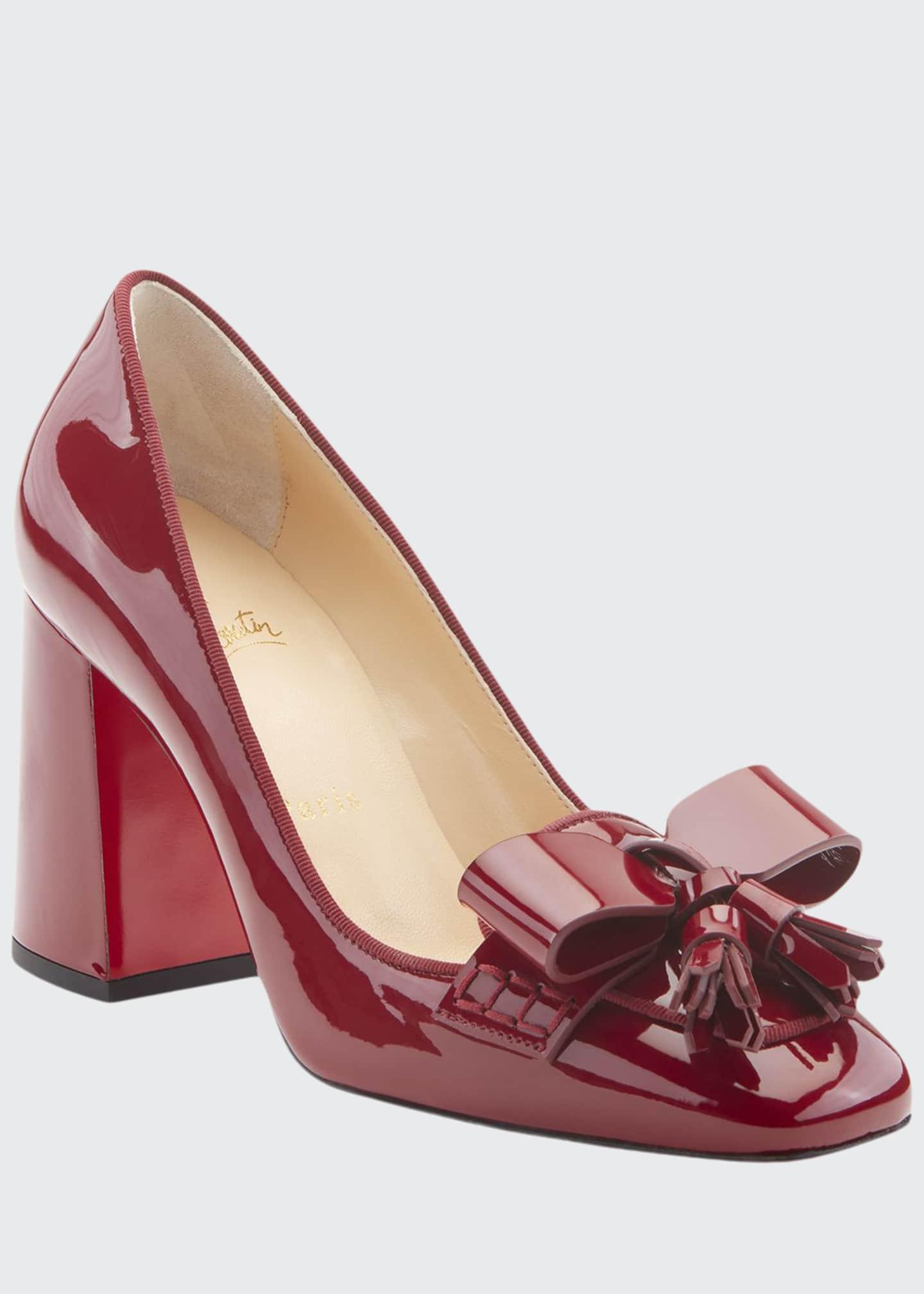 Christian Louboutin Carmela Patent Leather Bow & Tassel