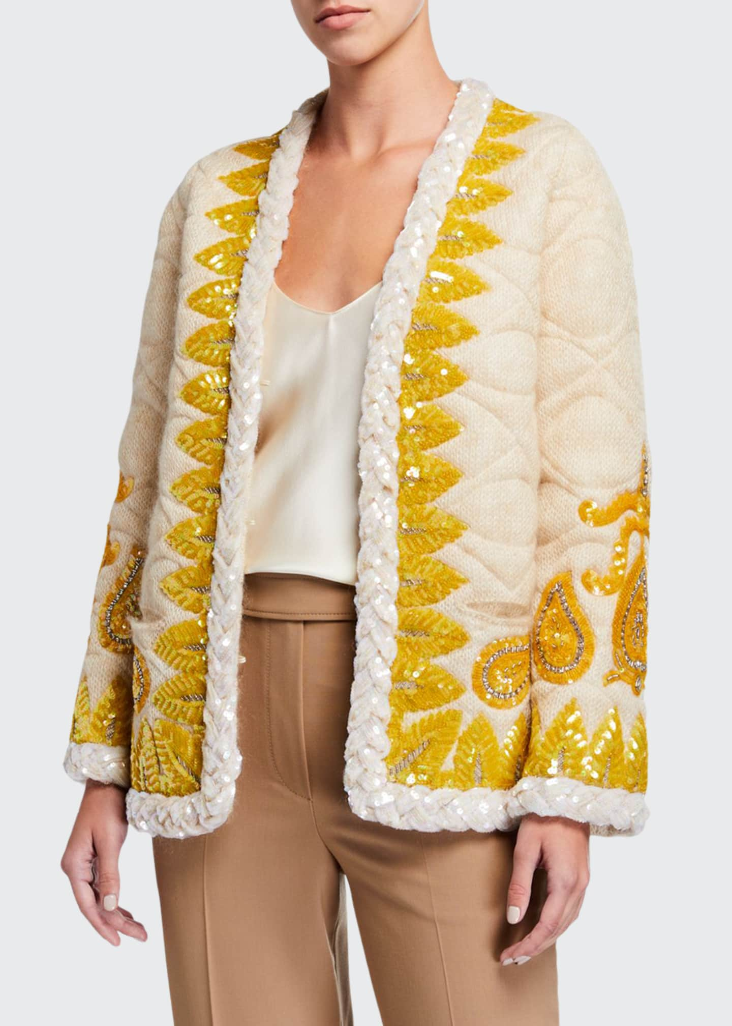 Gucci Embroidered Mohair Evening Jacket