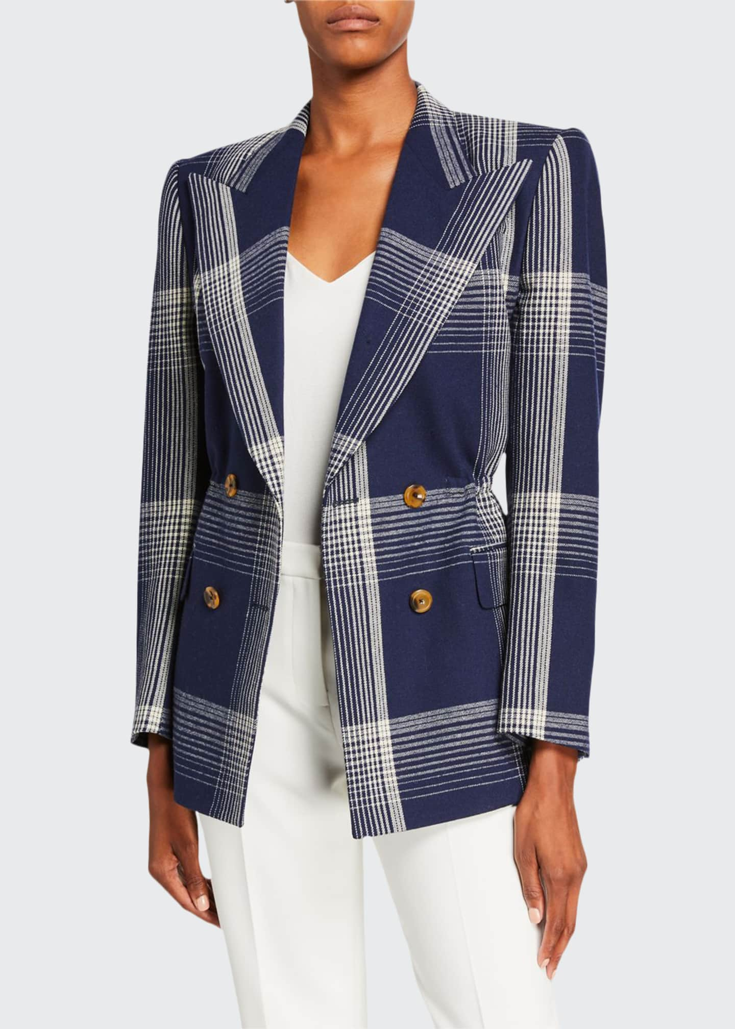 Gucci Checked Wool Cinched-Waist Jacket
