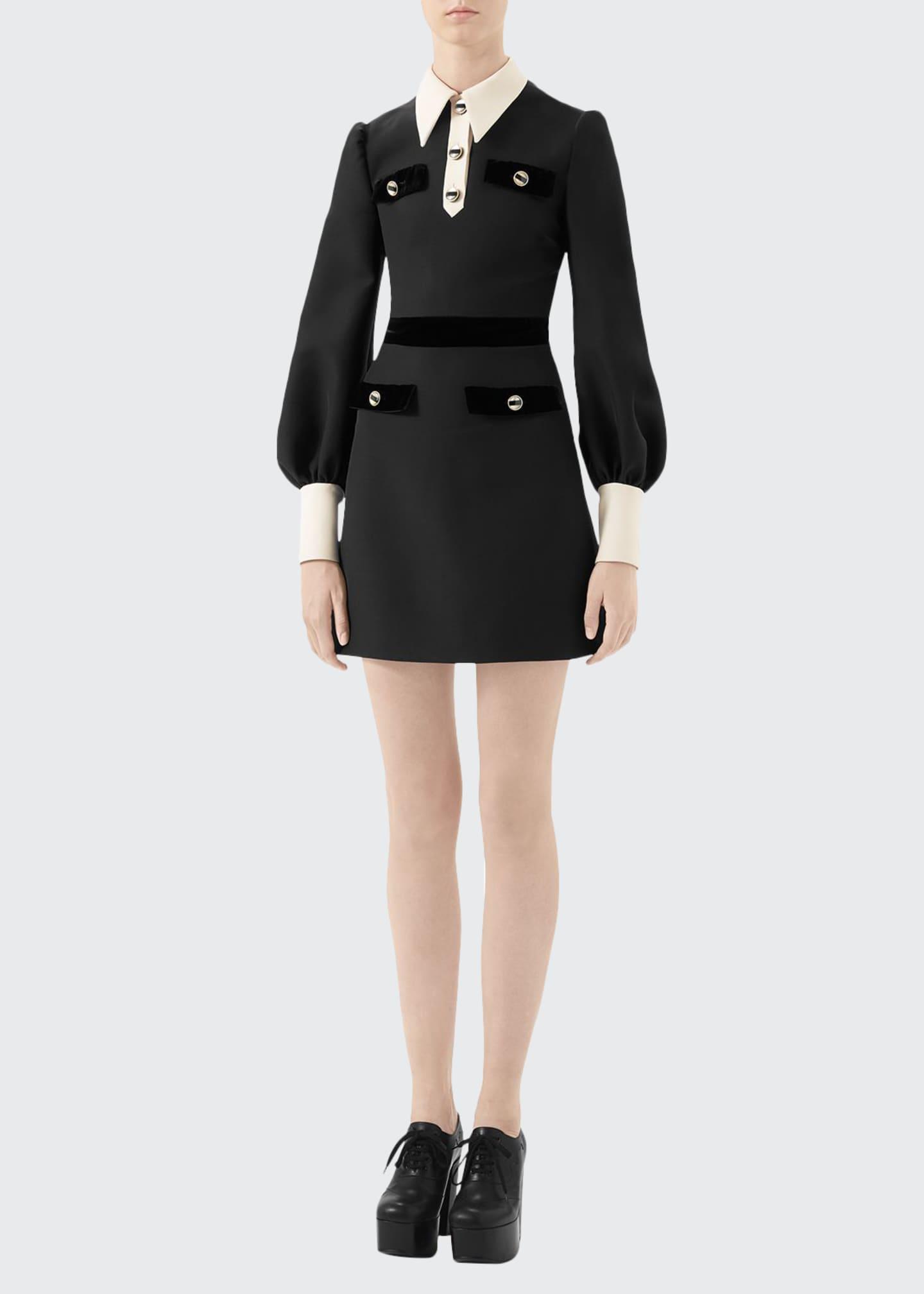 Gucci Cady Tie-Neck Dress