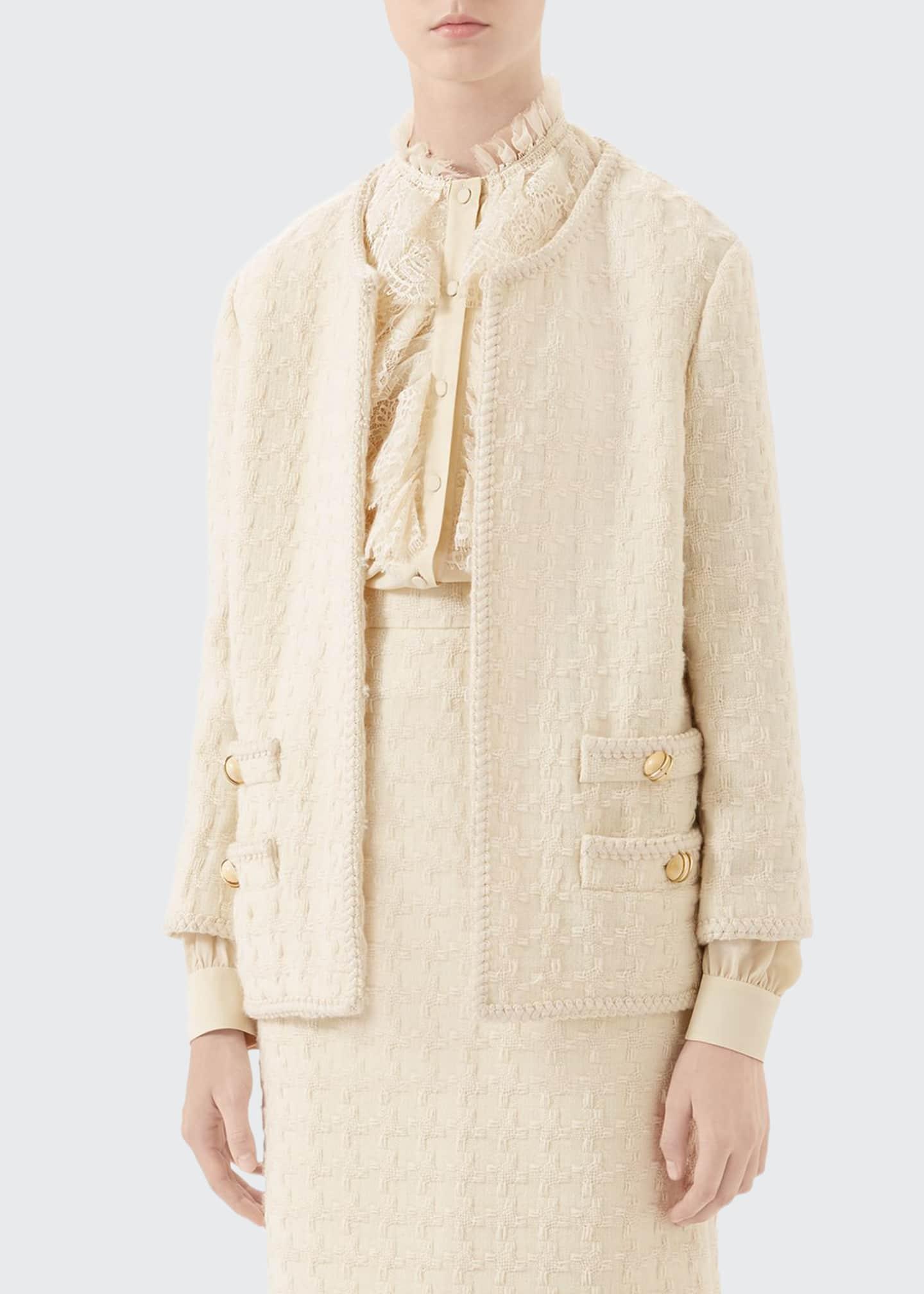 Gucci Houndstooth Tweed Jacket