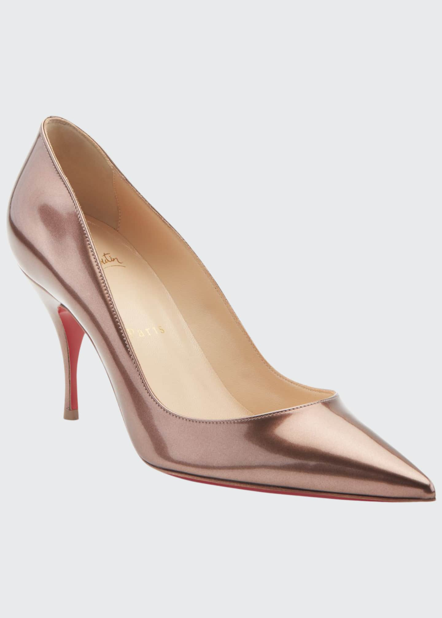 Christian Louboutin Clare Metallic Patent Leather Red Sole