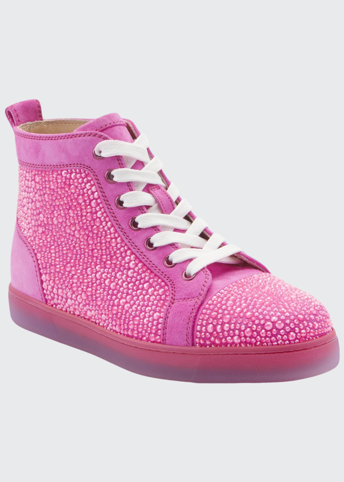 Christian Louboutin Louis Strass Red Sole Sneakers