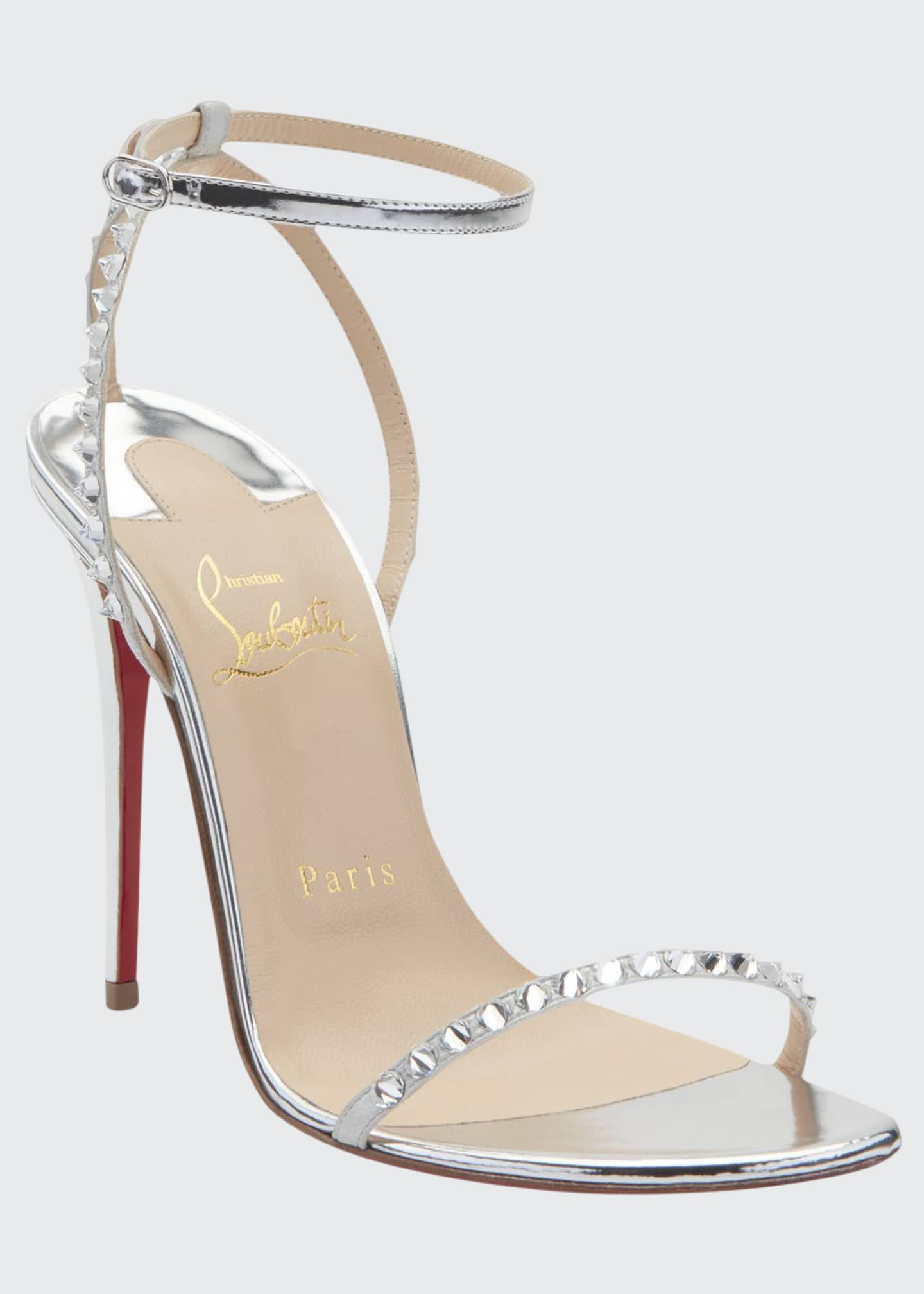 Christian Louboutin So You Strappy Spike Red Sole