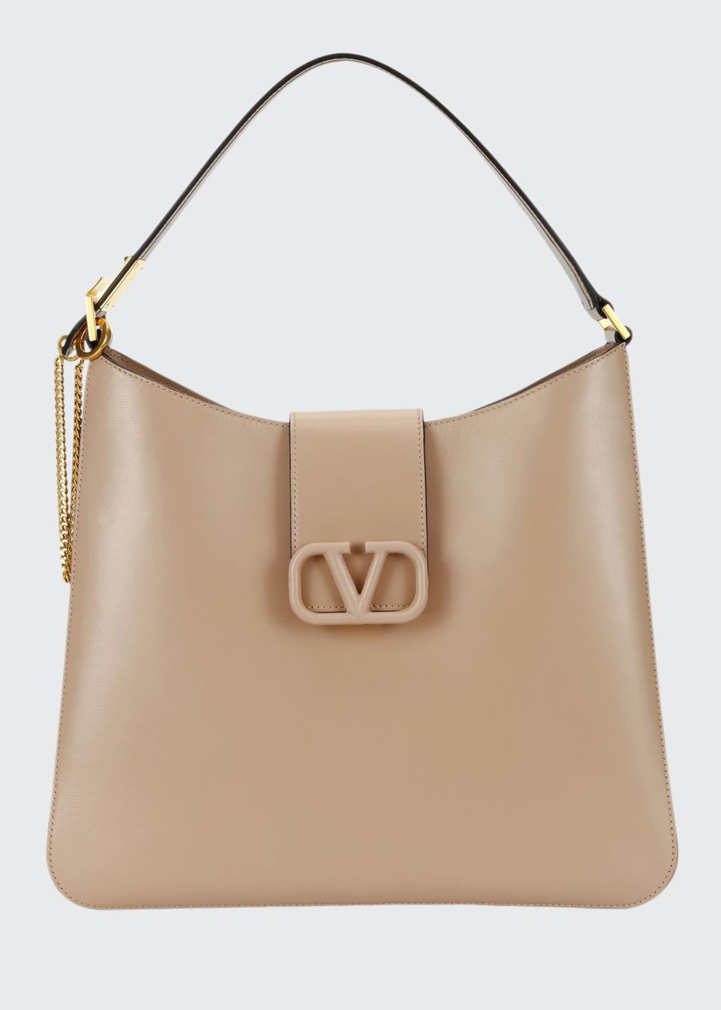 Valentino Garavani VSling Box Calf Hobo Bag