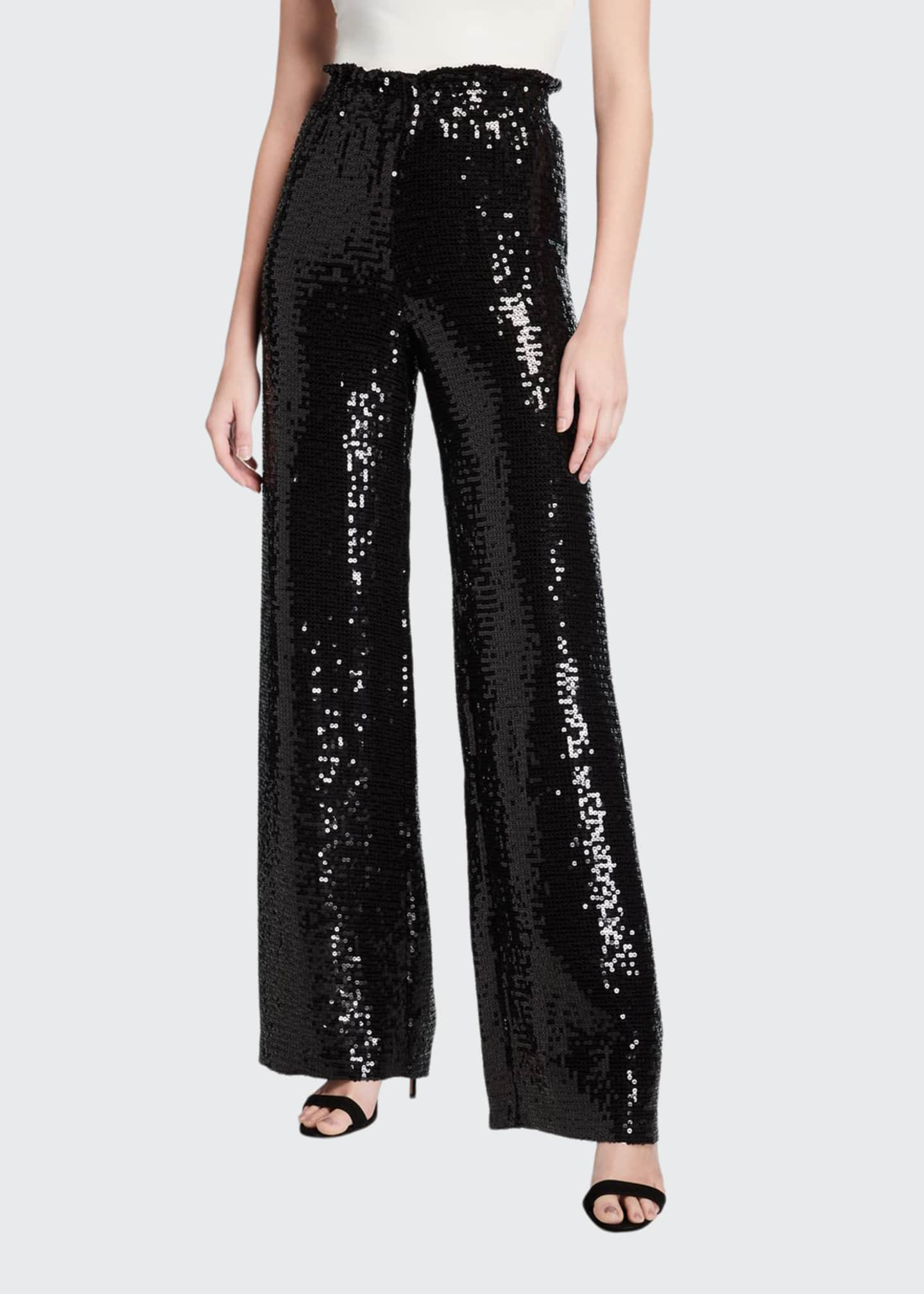 Image 1 of 3: Elba Sequined Paperbag Pants