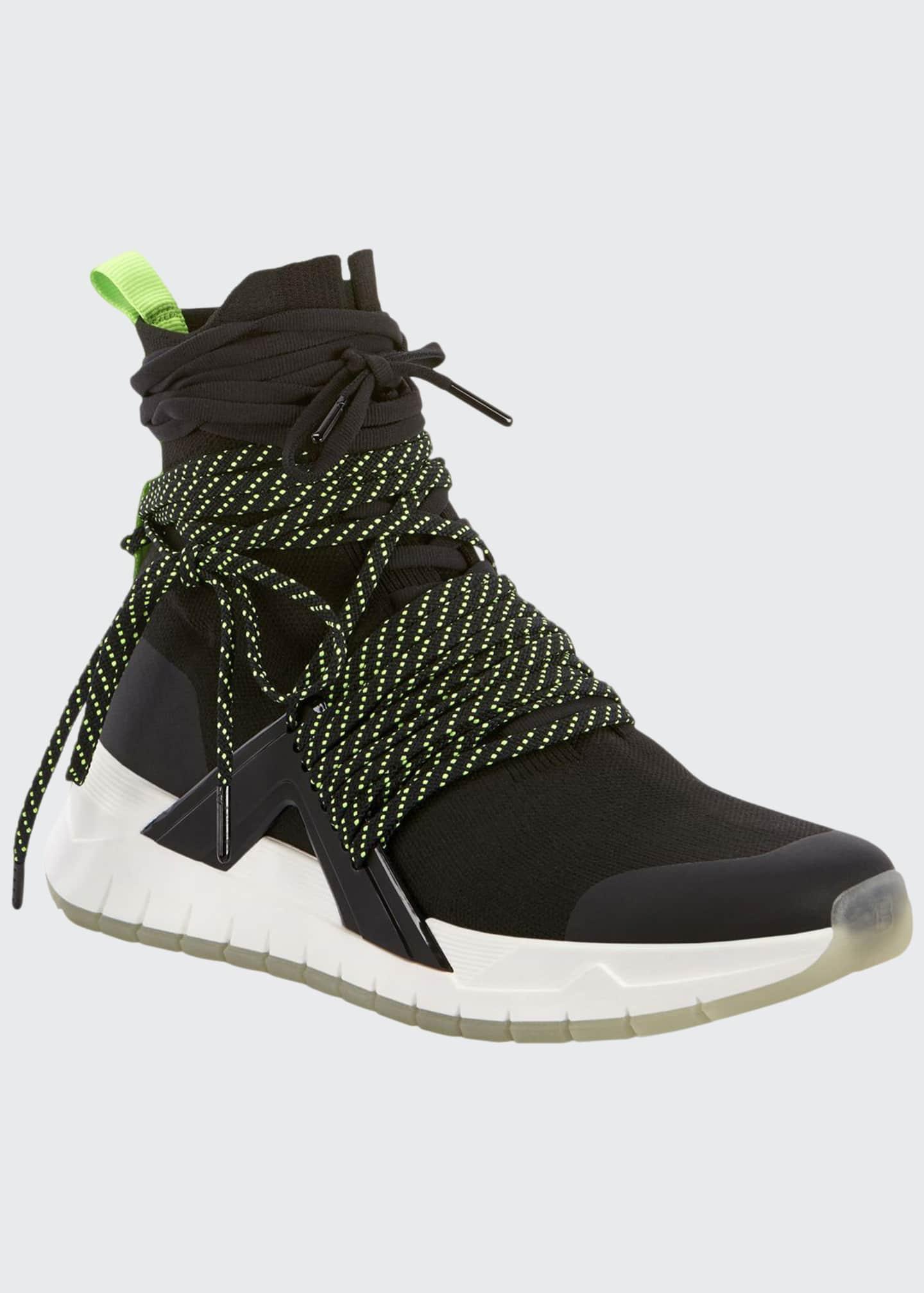 Balmain Men's Troop Multi-Lace Knit Sneakers