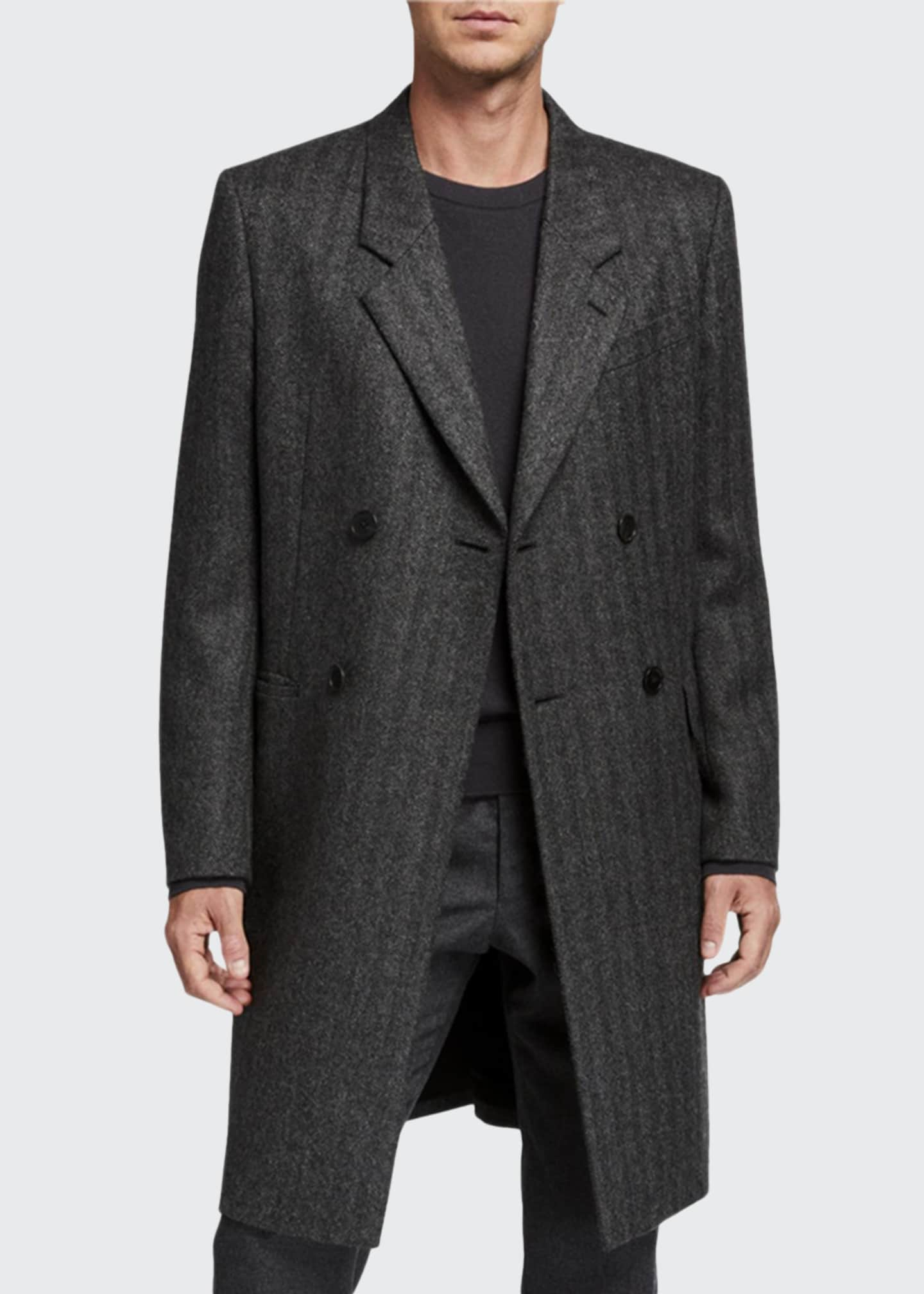 THE ROW Men's Colt Striped Double-Breasted Coat