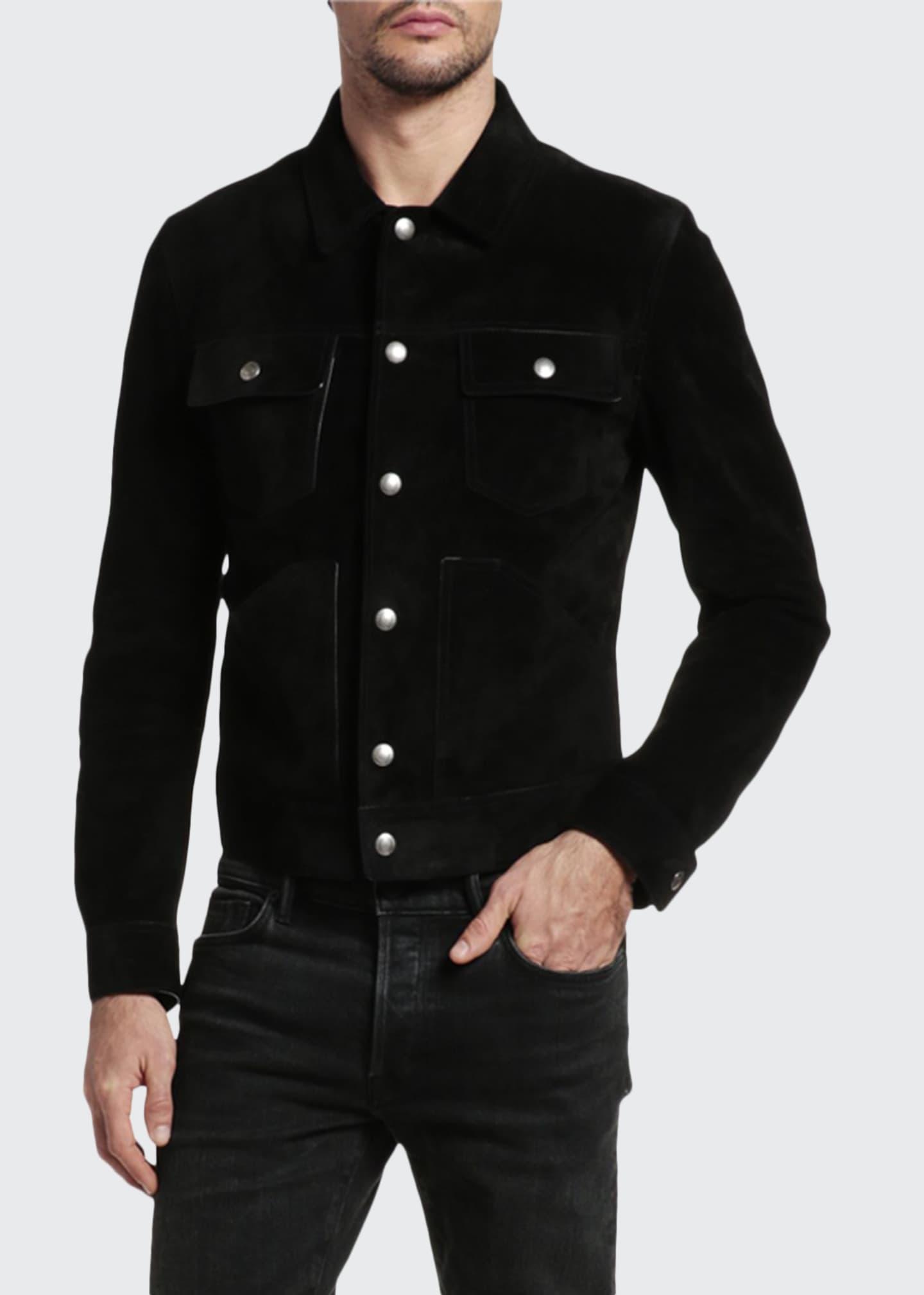 TOM FORD Men's Dark-Wash Denim Jacket