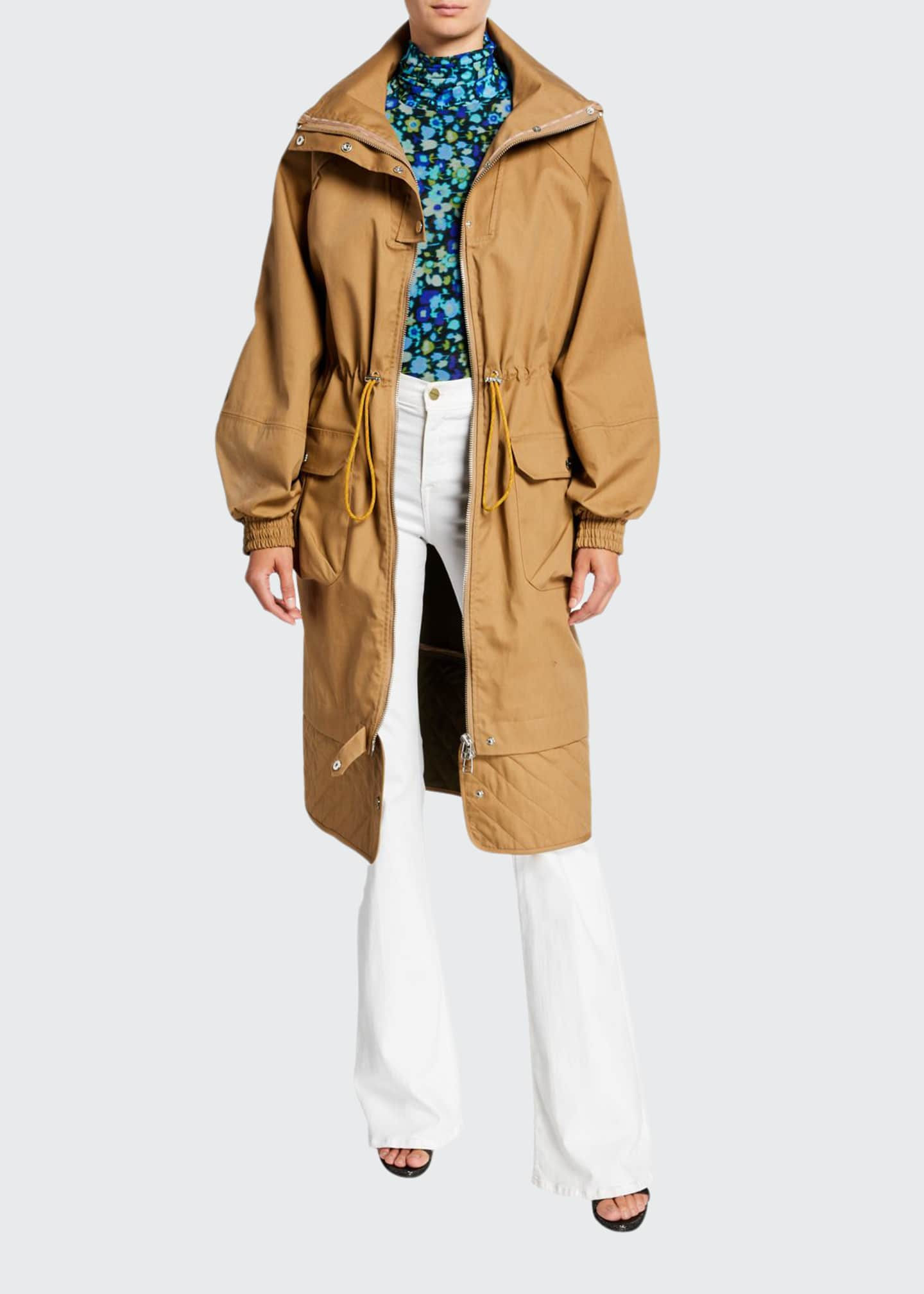 Ganni Double-Layer Cotton Parka Jacket