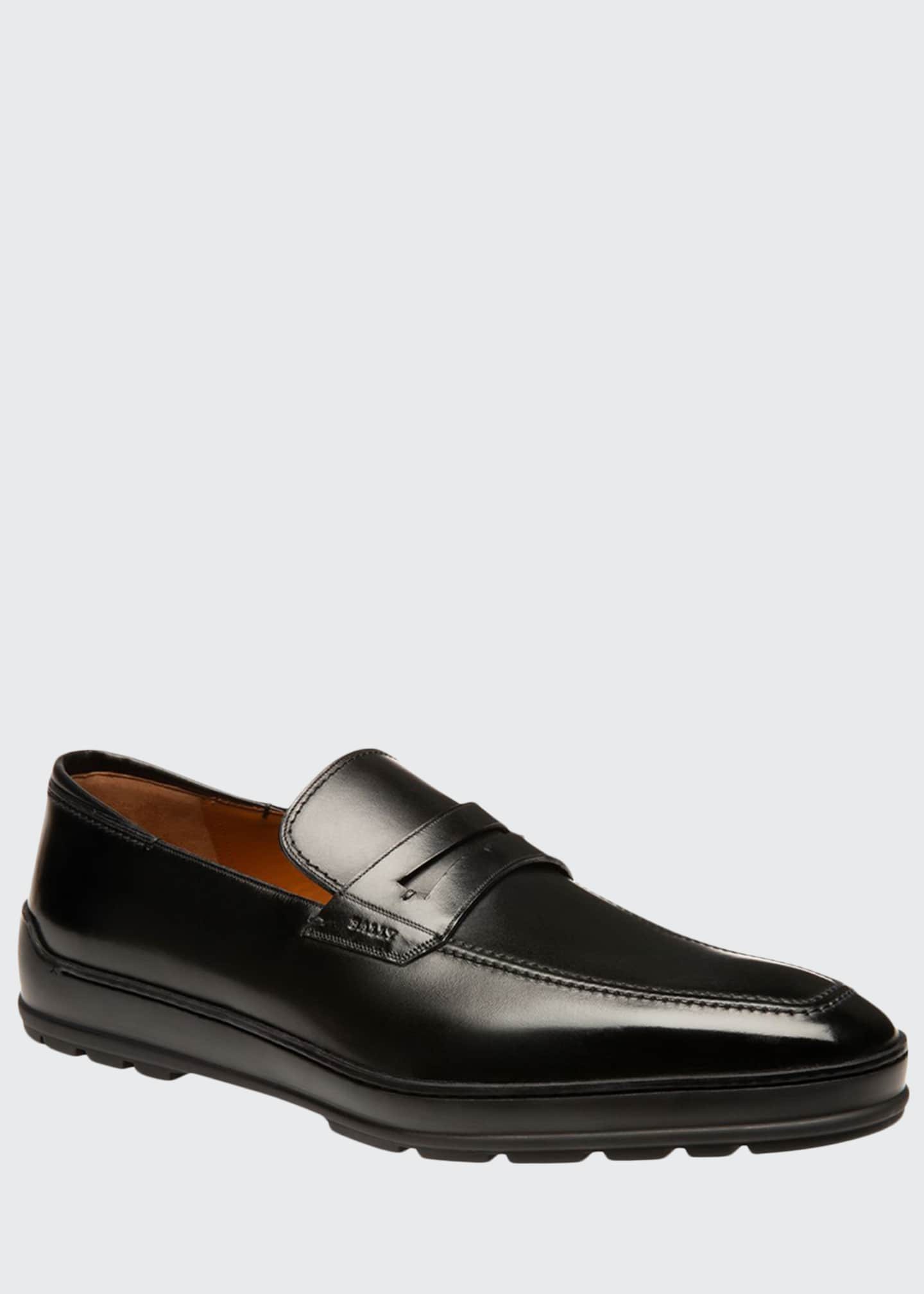 Image 1 of 4: Men's Relon Leather Penny Loafers