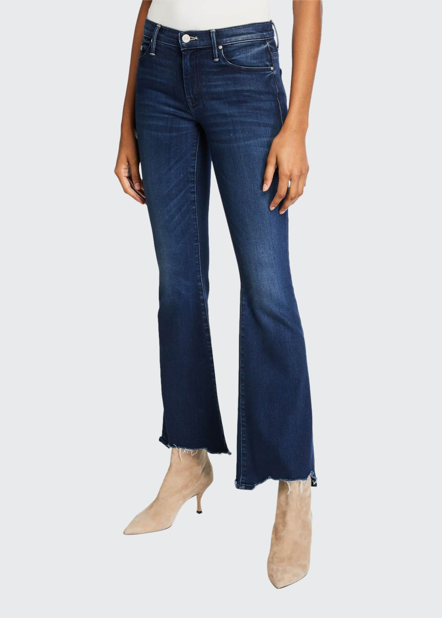 Image 1 of 3: The Weekender Fray Flare-Leg Jeans