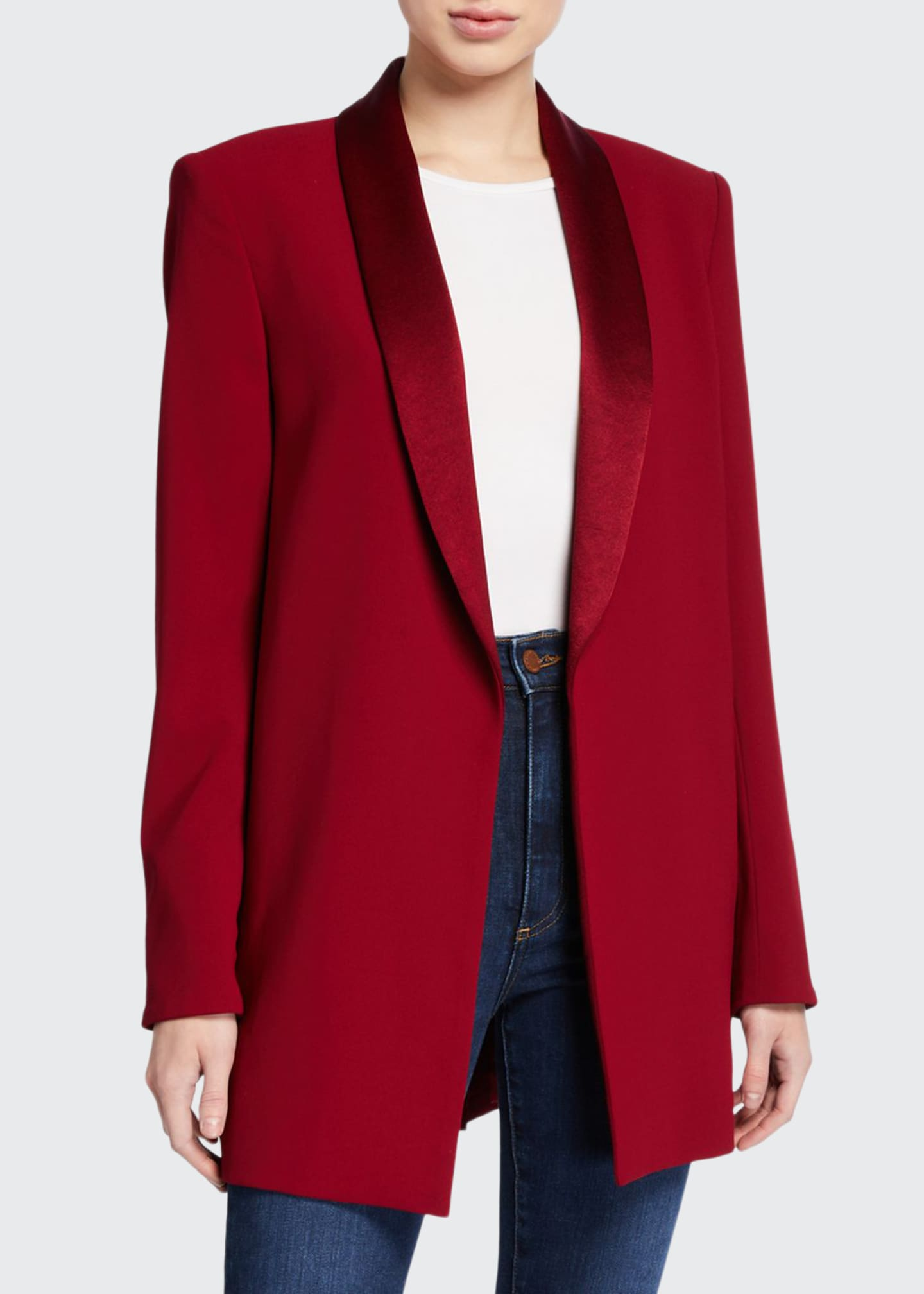 Alice + Olivia Jace Strong-Shoulder Oversized Blazer