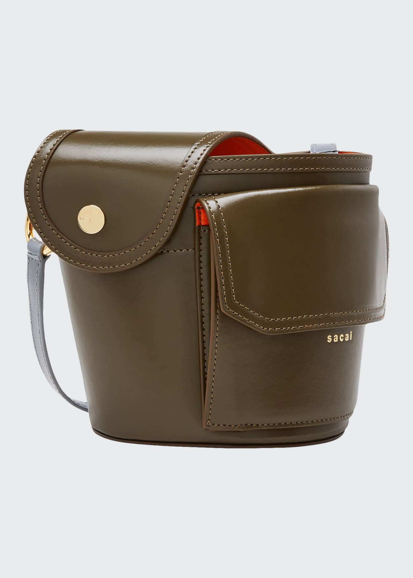 Image 1 of 4: Thermos Leather Bucket Bag