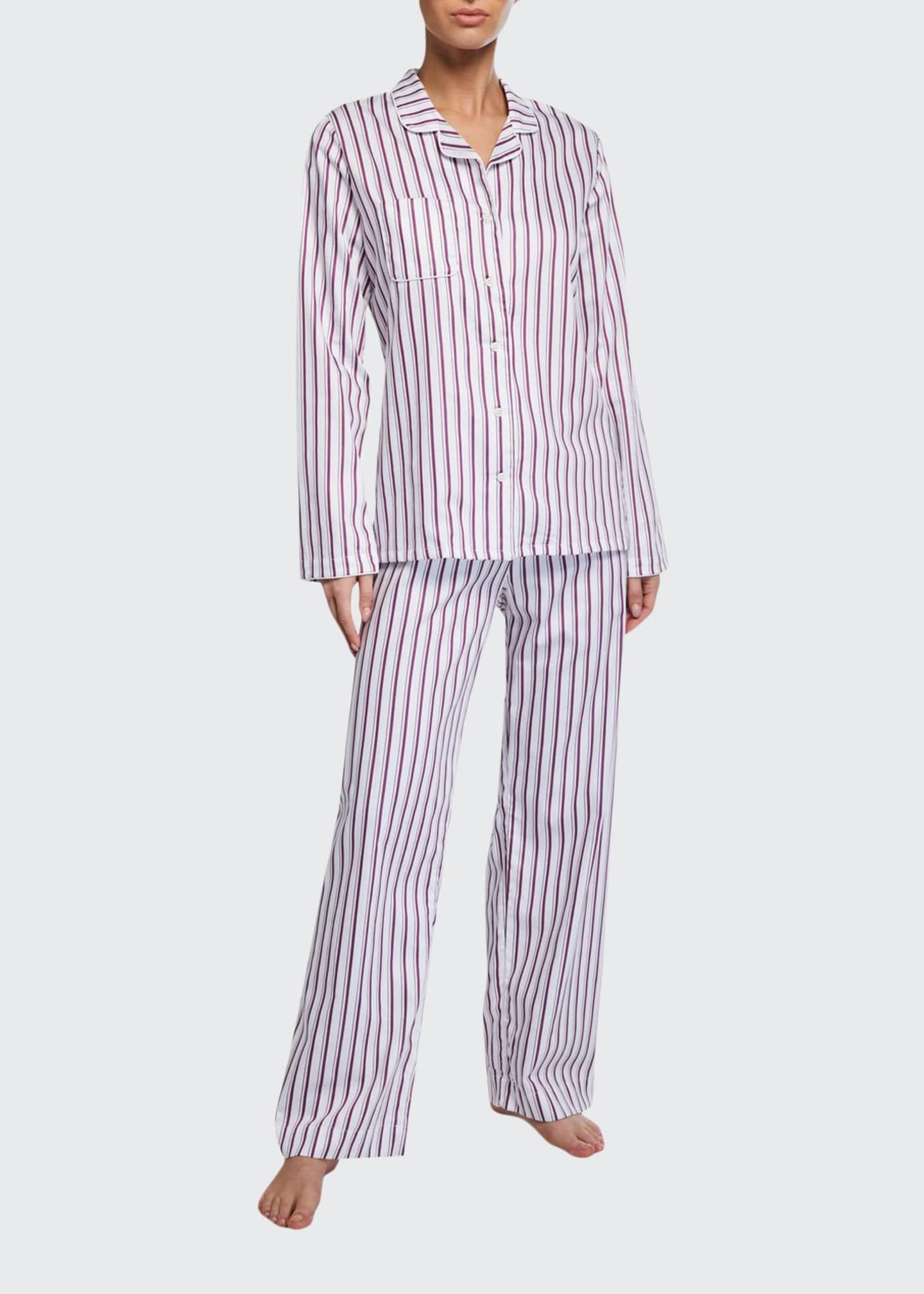 Derek Rose Milly Striped Classic Pajama Set