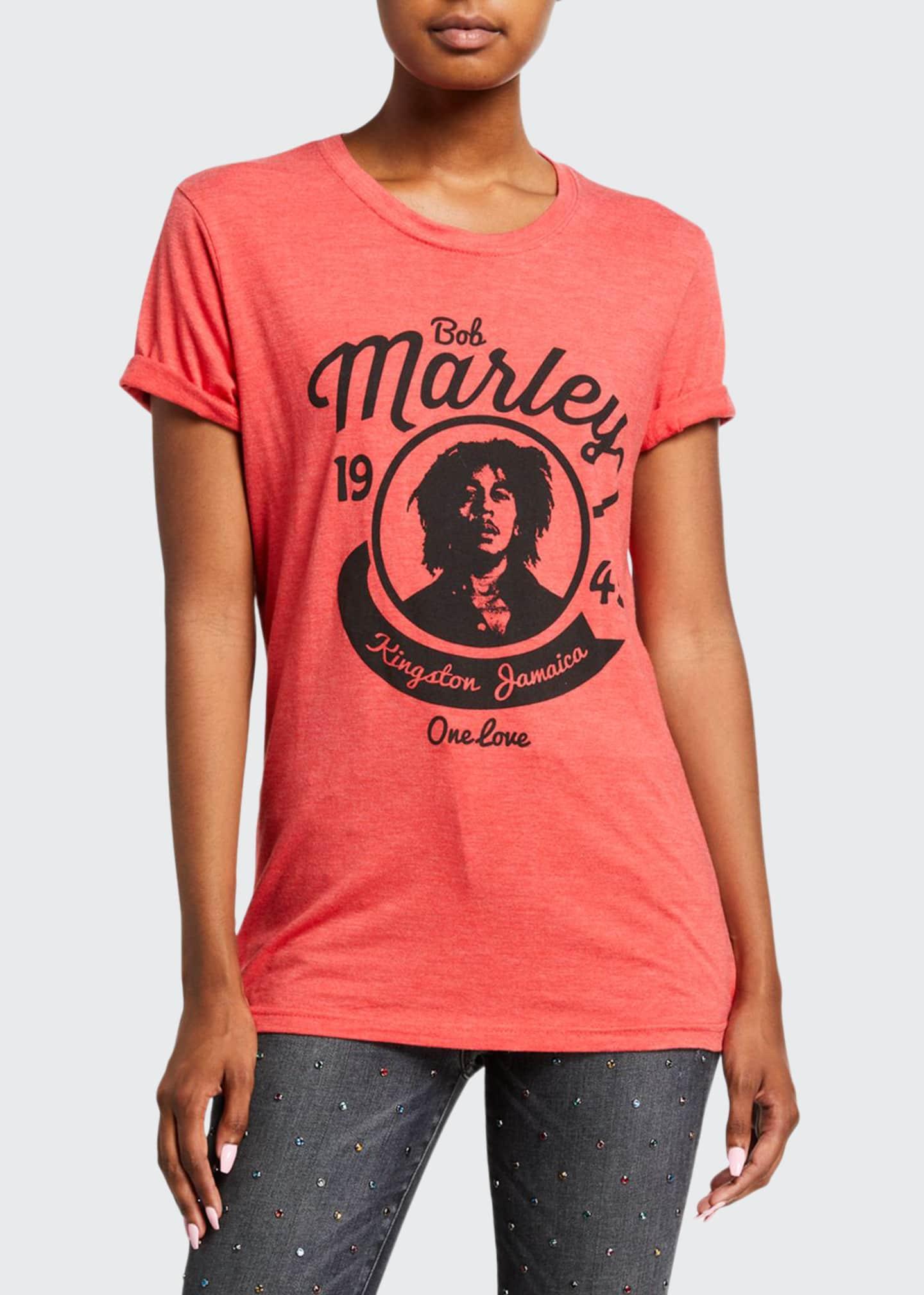 ALICE + OLIVIA JEANS Milo Bob Marley Roll-Sleeve
