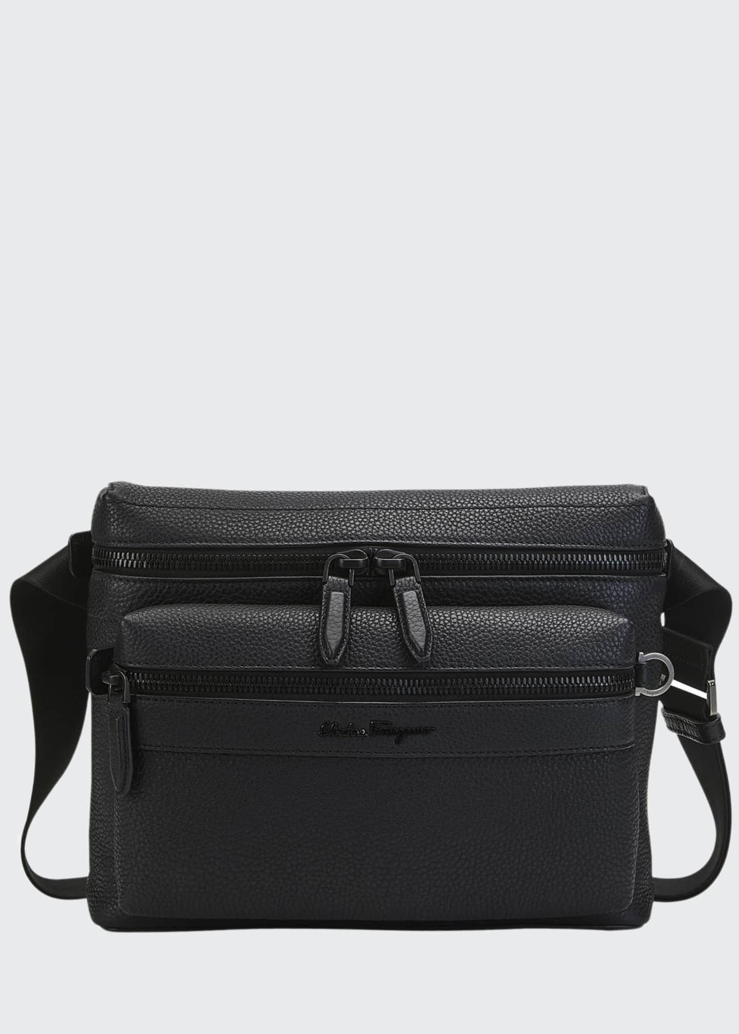 Salvatore Ferragamo Men's Tonal Leather Crossbody Bag