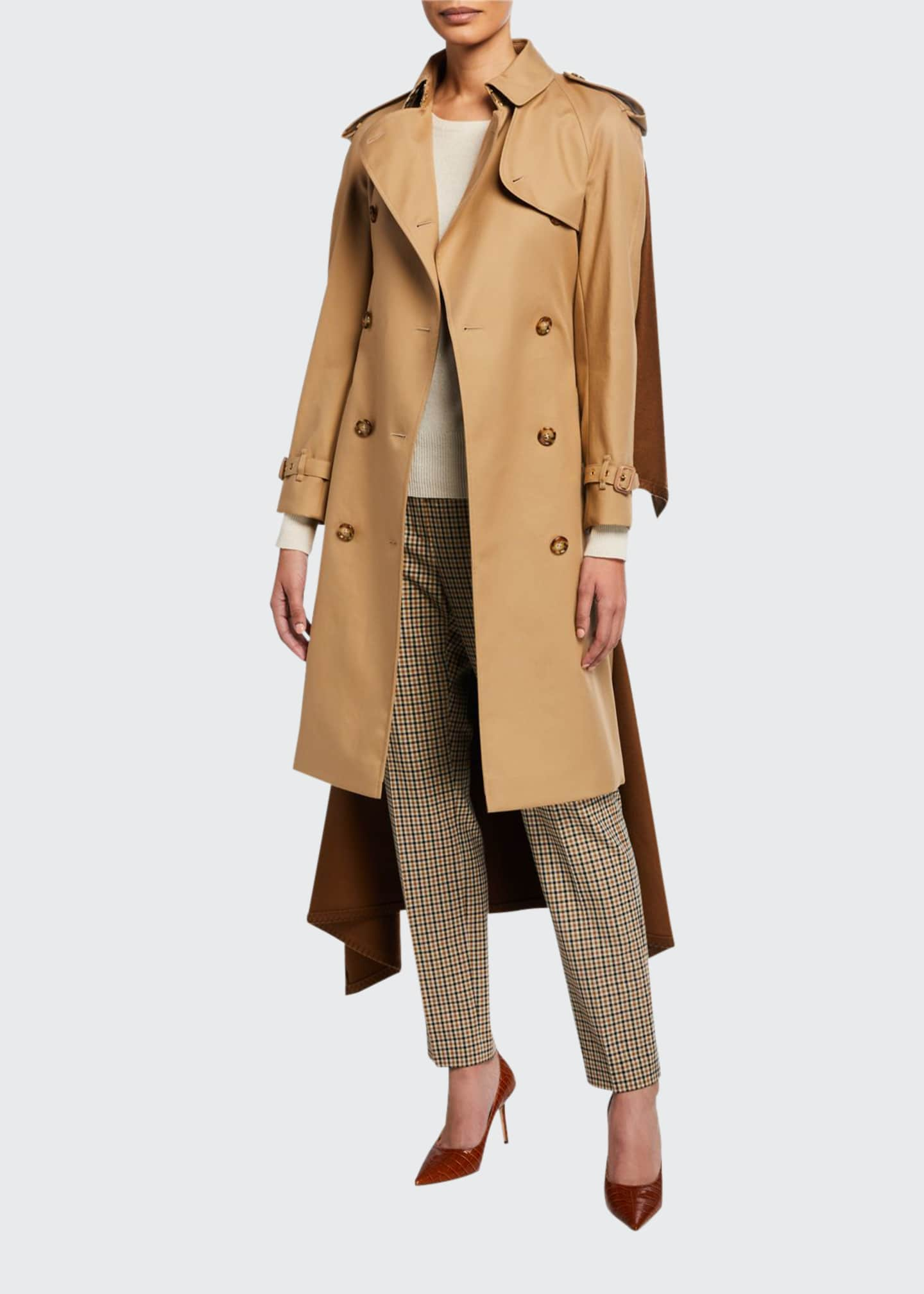Burberry Cotton Trench Coat w/ Cape