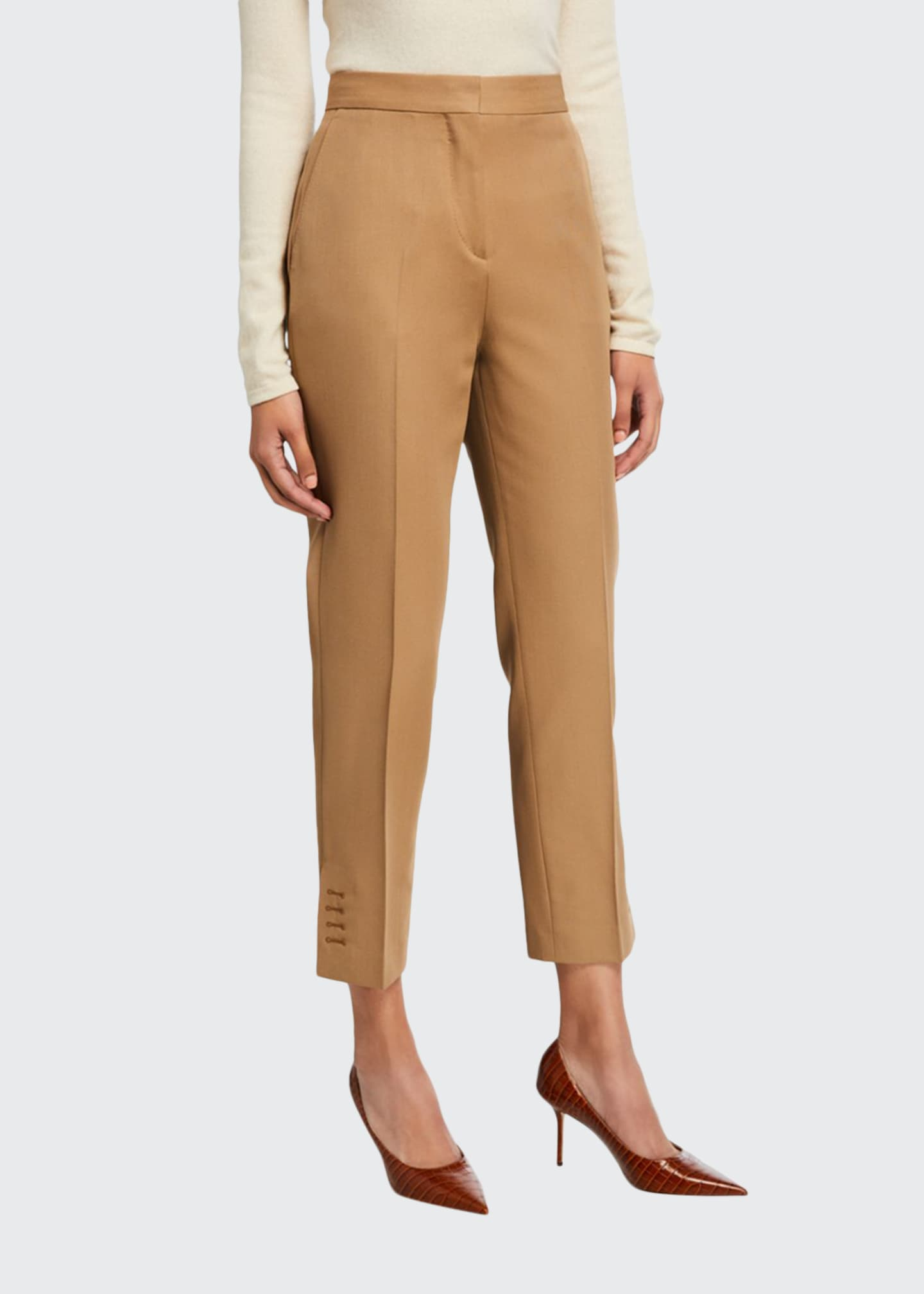 Burberry Button-Seam Cuff Trousers