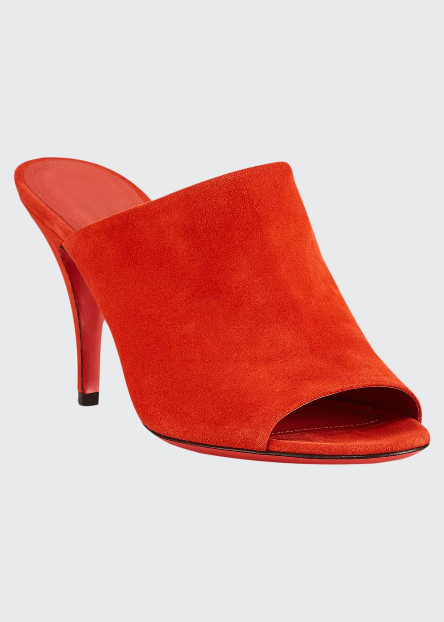 Salvatore Ferragamo Janine Suede Mule Sandals