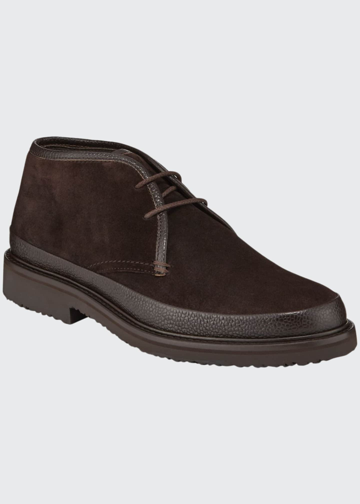 Image 1 of 3: Men's Trivero Suede Chukka Boots with Mud Guard