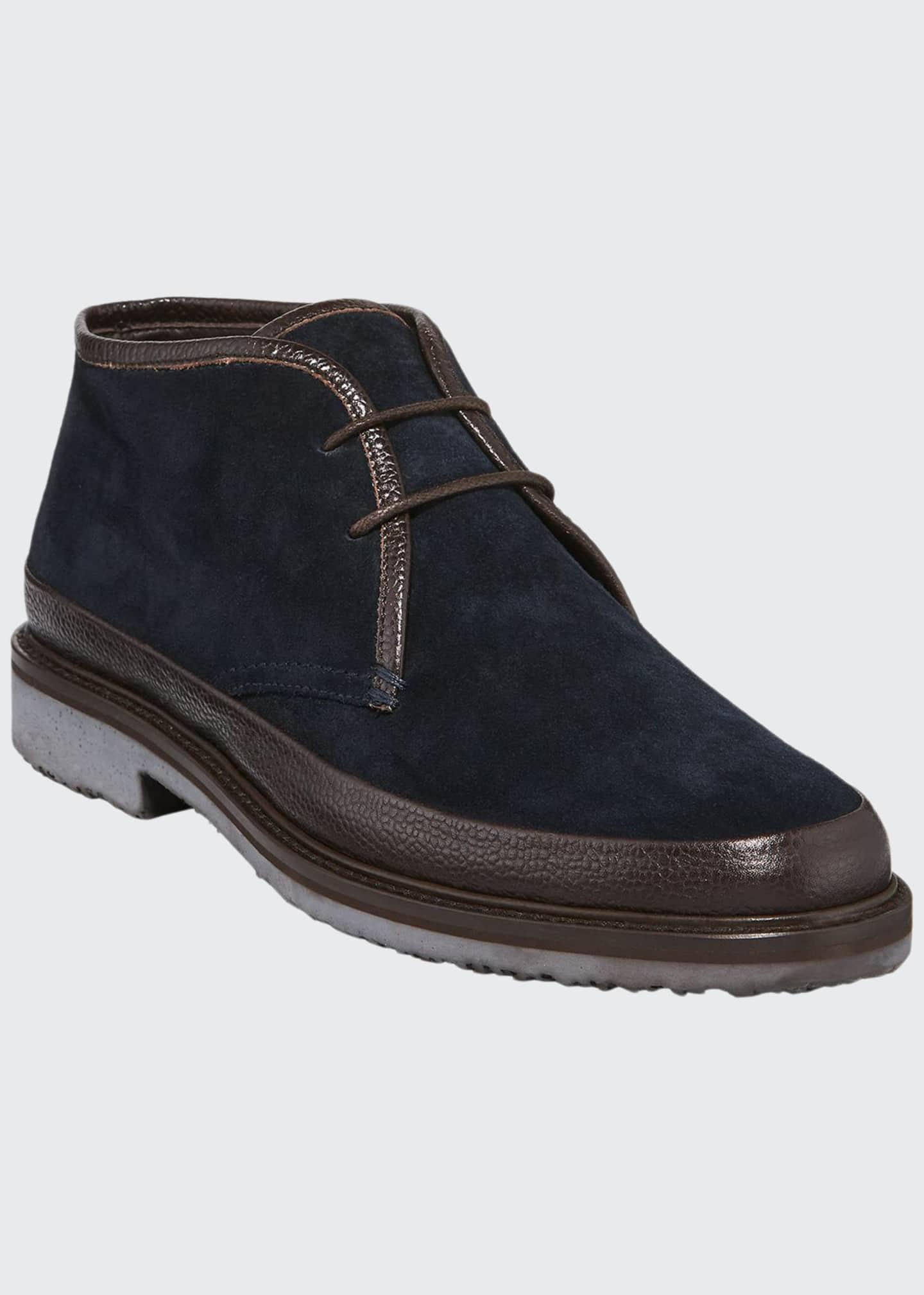 Ermenegildo Zegna Men's Trivero Suede Chukka Boots with