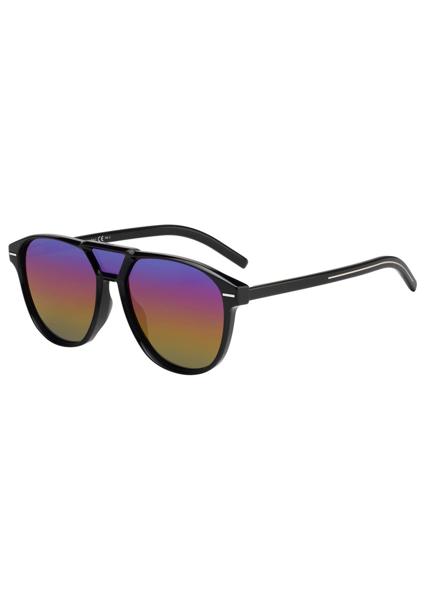 Image 1 of 1: Men's Square Extended-Lens Grilamid Sunglasses