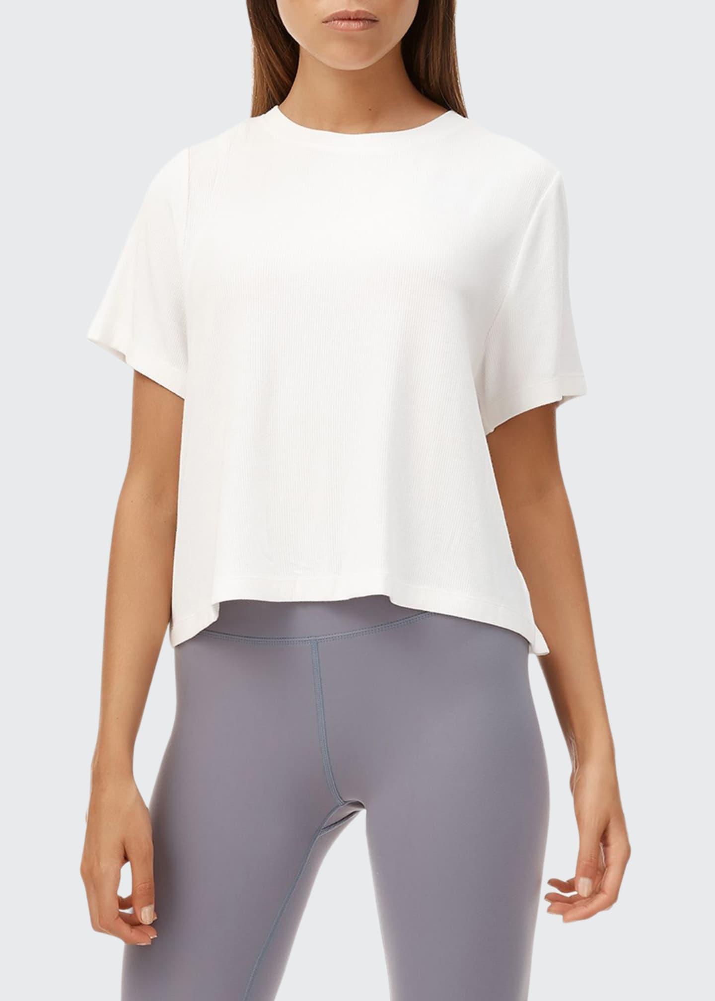 All Fenix Looper Short-Sleeve Lace-Up Back Tee