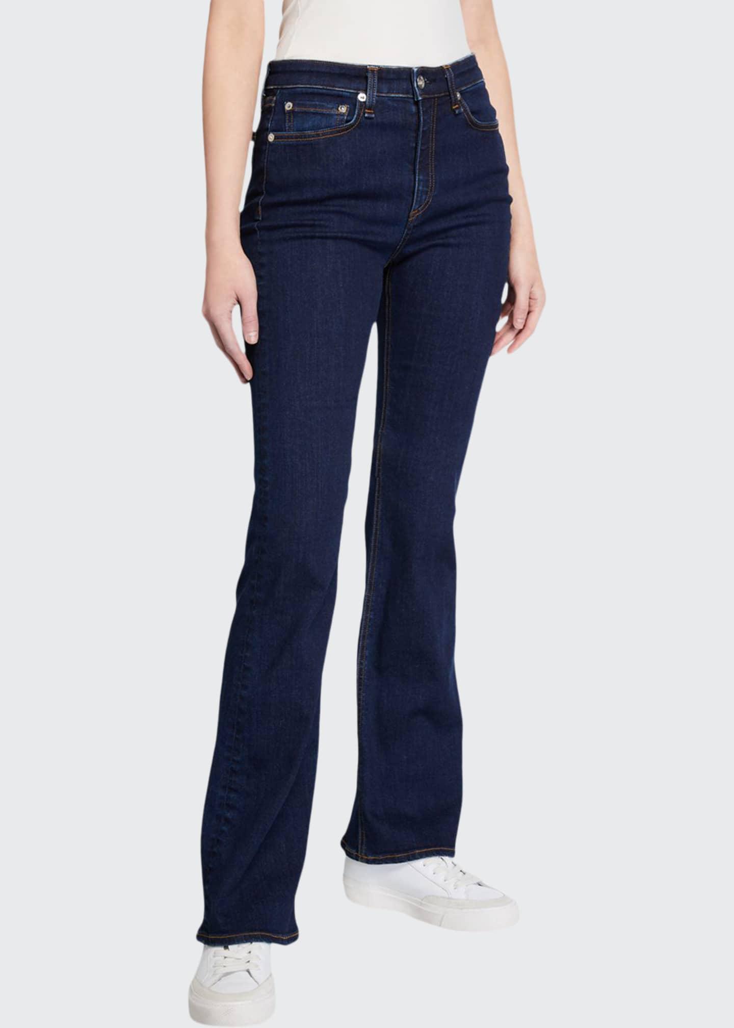 Rag & Bone Nina High-Rise Boot-Cut Denim Jeans