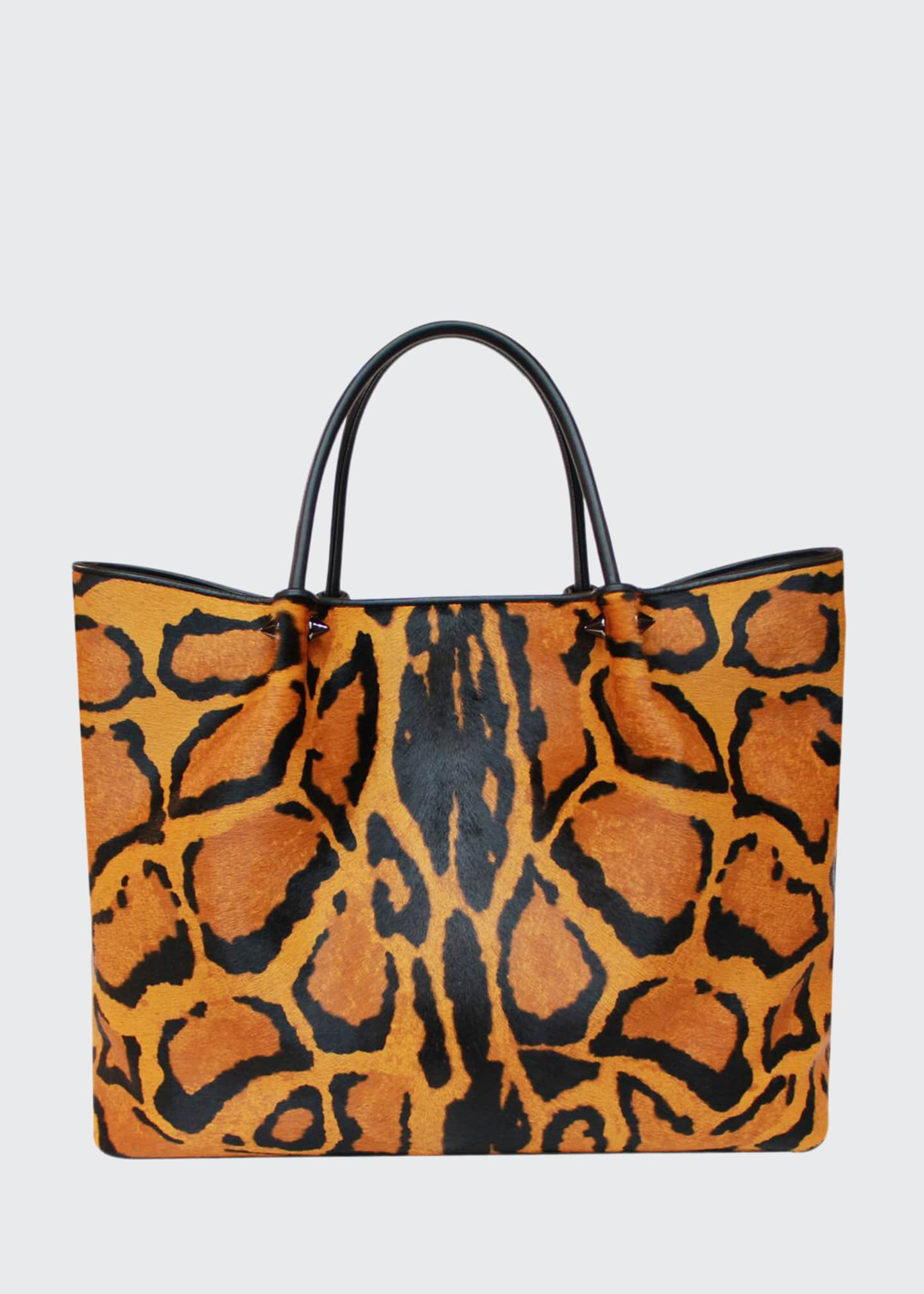 Image 1 of 2: Wilfred Animal-Print Fur Tote Bag