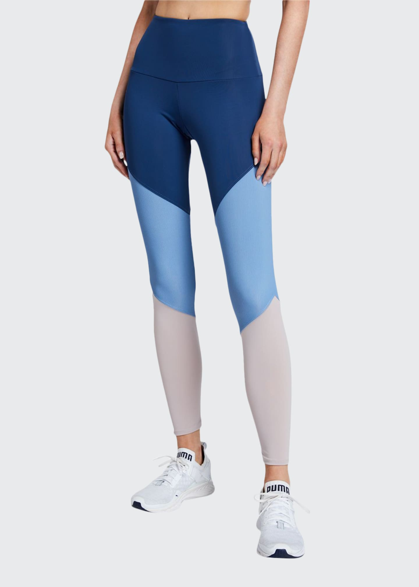 Onzie High Rise Track Leggings, Pebble Combo