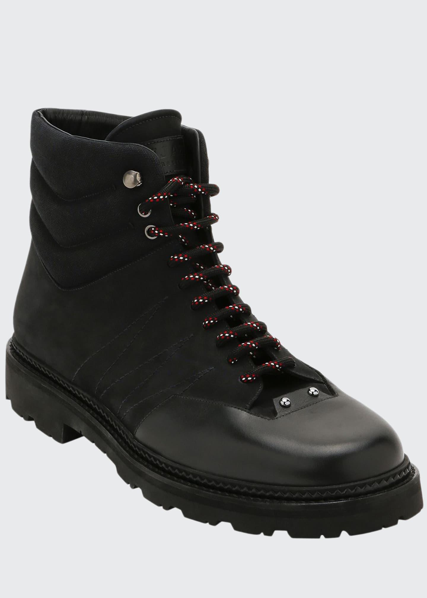 Bally Men's Zeber Tonal Mixed-Media Hiking Boots