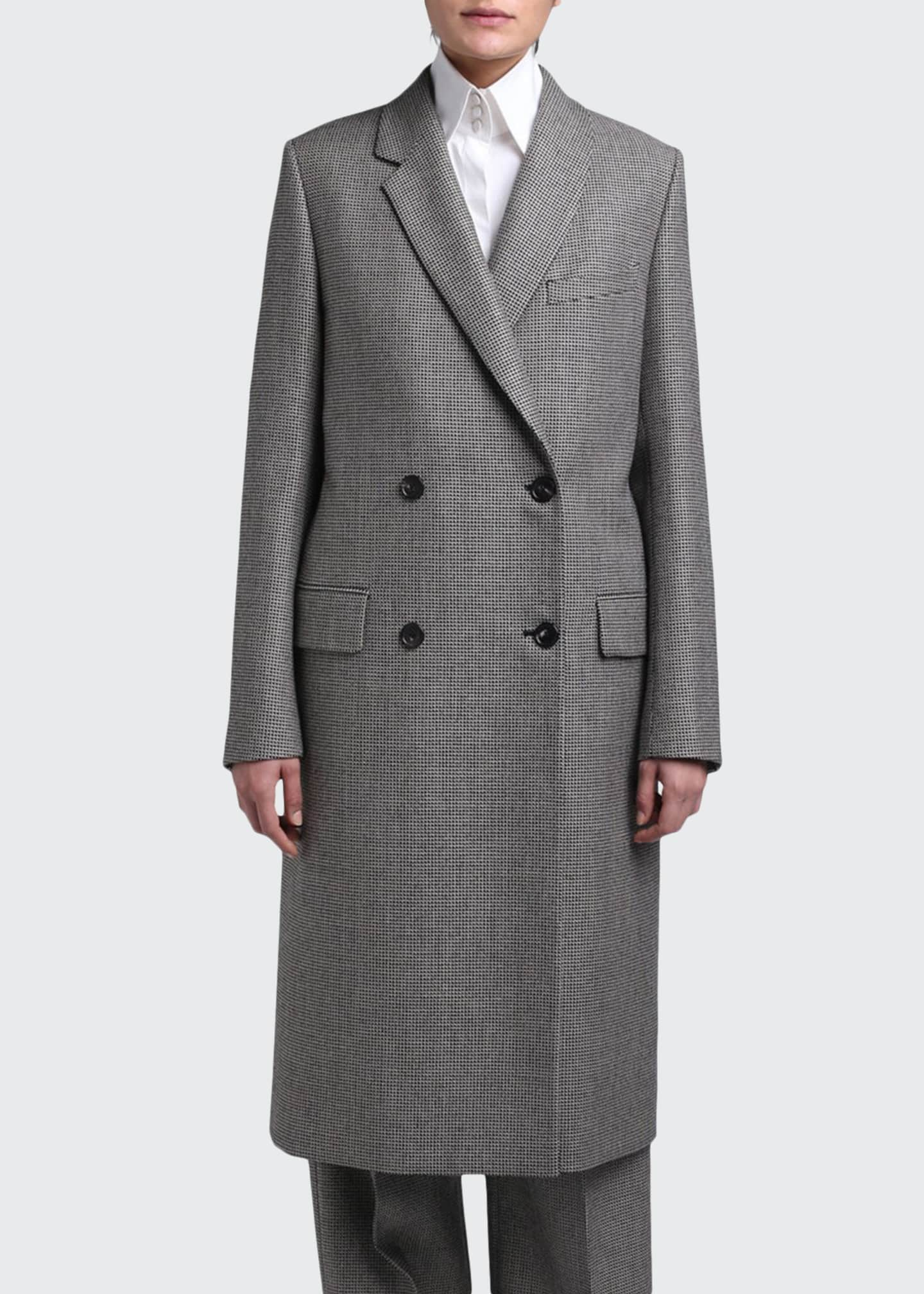 Image 1 of 3: Pixel Wool Double-Breasted Coat