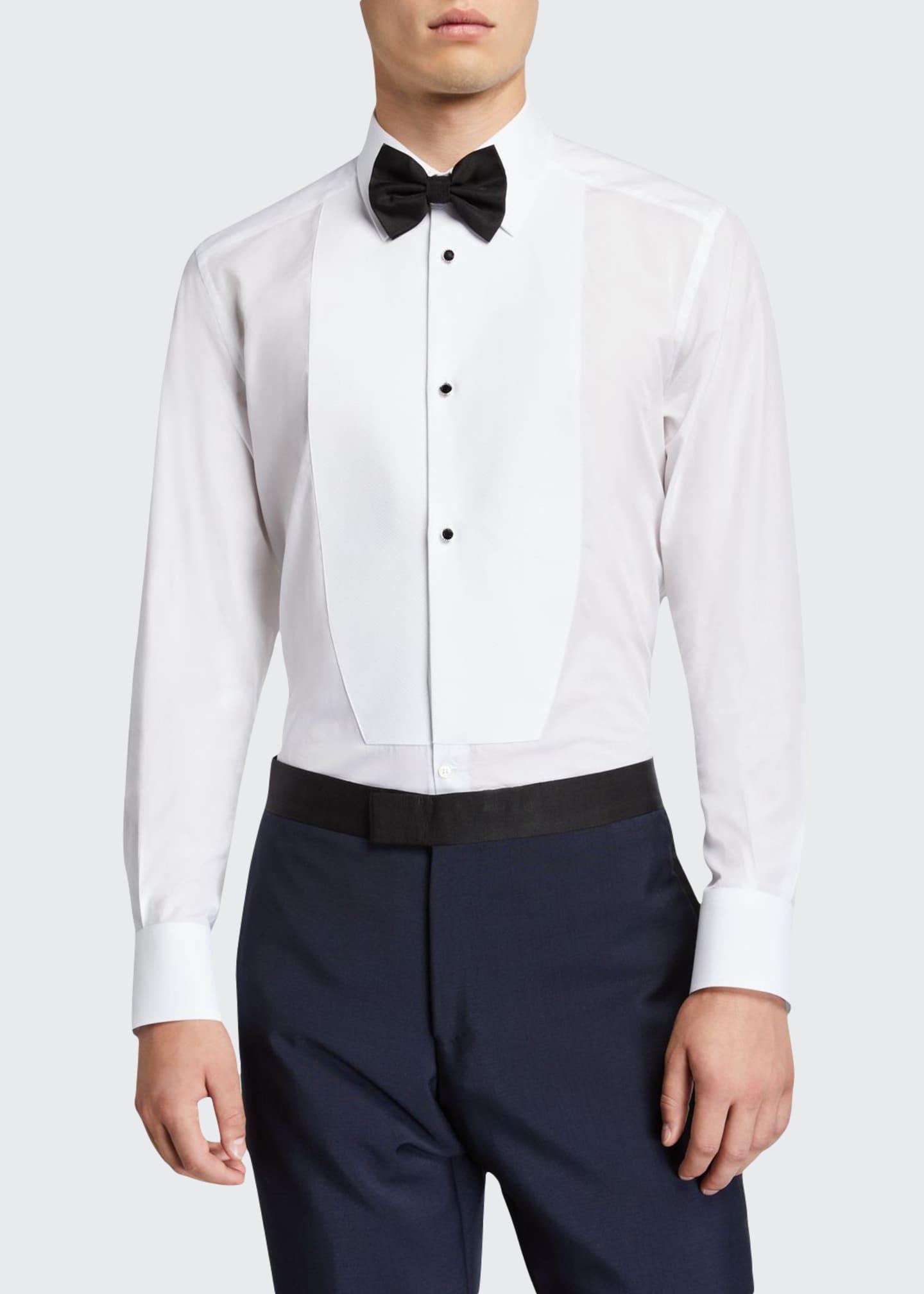 Dolce & Gabbana Men's Formal Bib-Front Tuxedo Shirt