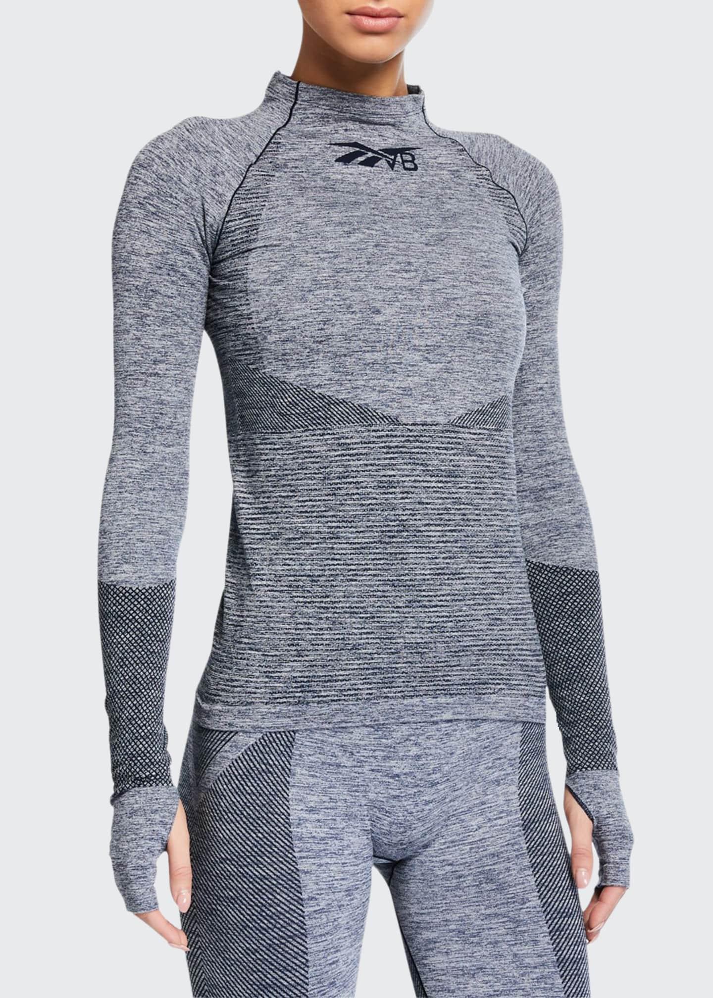 Reebok by Victoria Beckham Seamless Long-Sleeve Textured Active