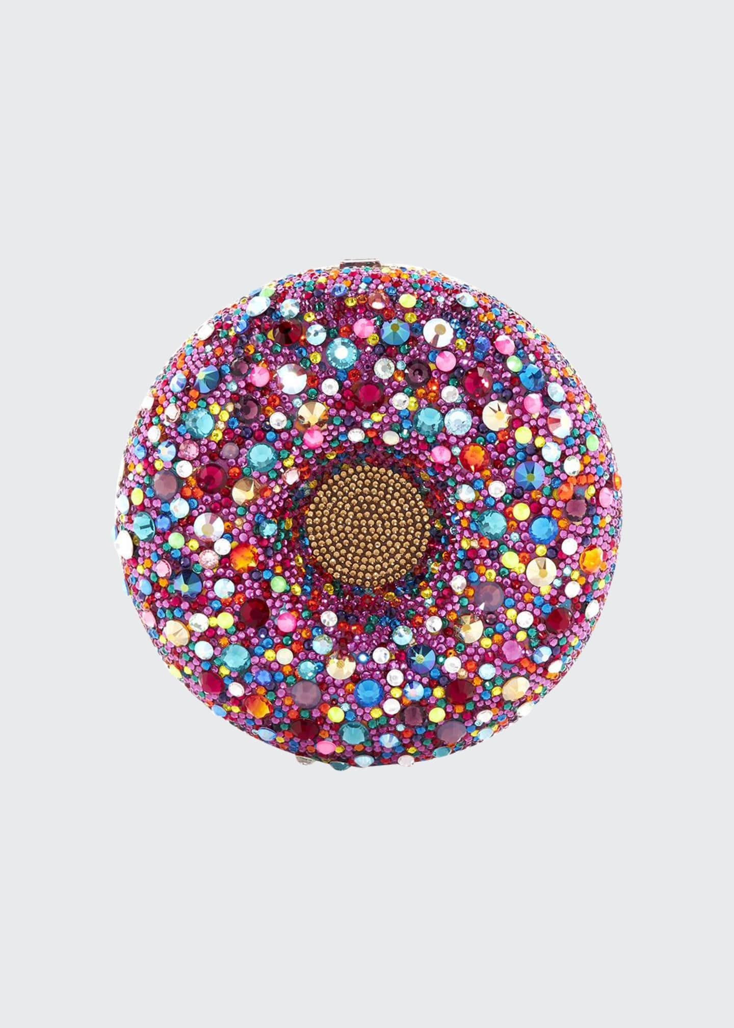 Judith Leiber Couture Confetti Donut Clutch Bag