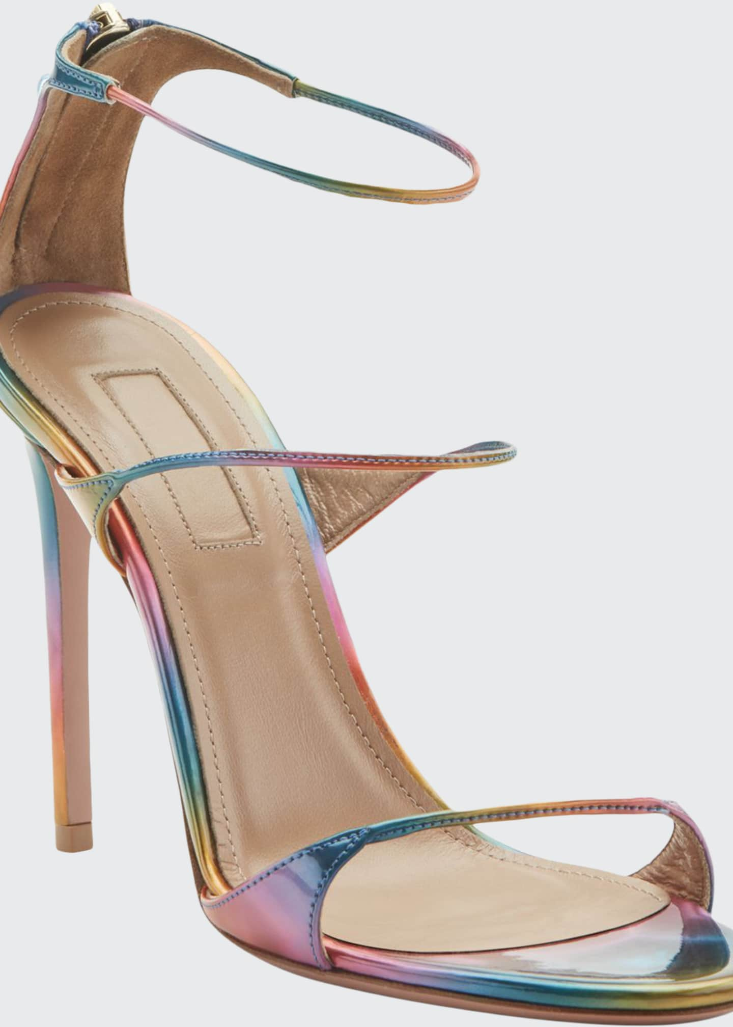 Aquazzura Minute Holographic High Sandals