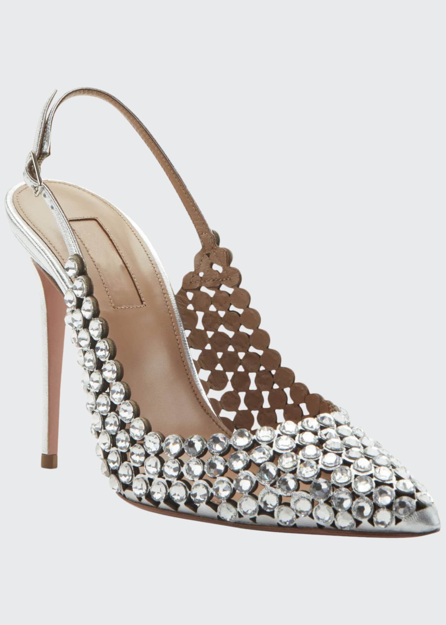 Aquazzura Tequila Jeweled Slingback Pumps