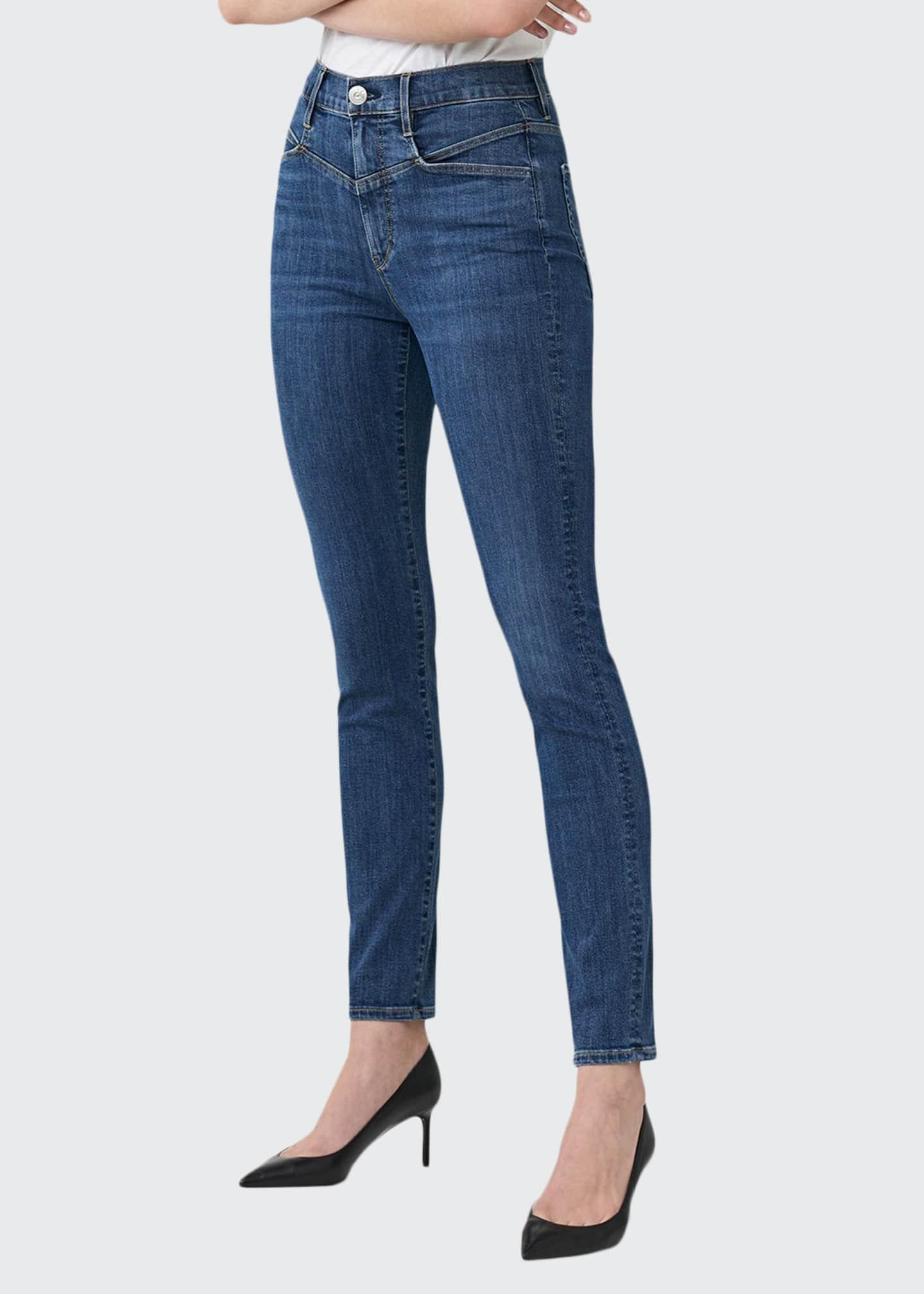 3x1 Jesse Straight-Leg Ankle Jeans with Yoke
