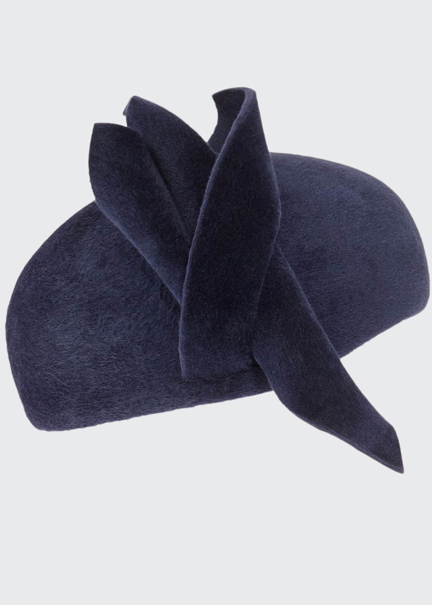 Image 1 of 1: Wool Felt Velour Hand-Blocked Beret